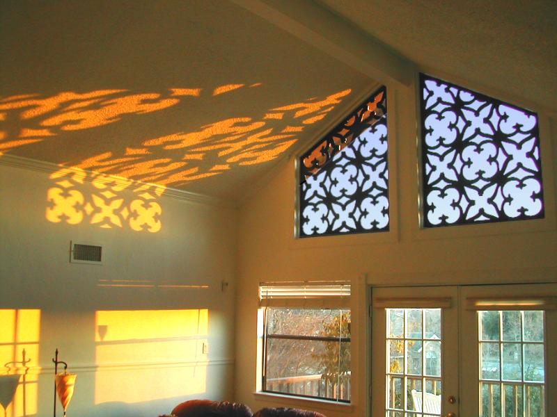 One of Tableaux's first window treatments with beautiful shadows on the wall
