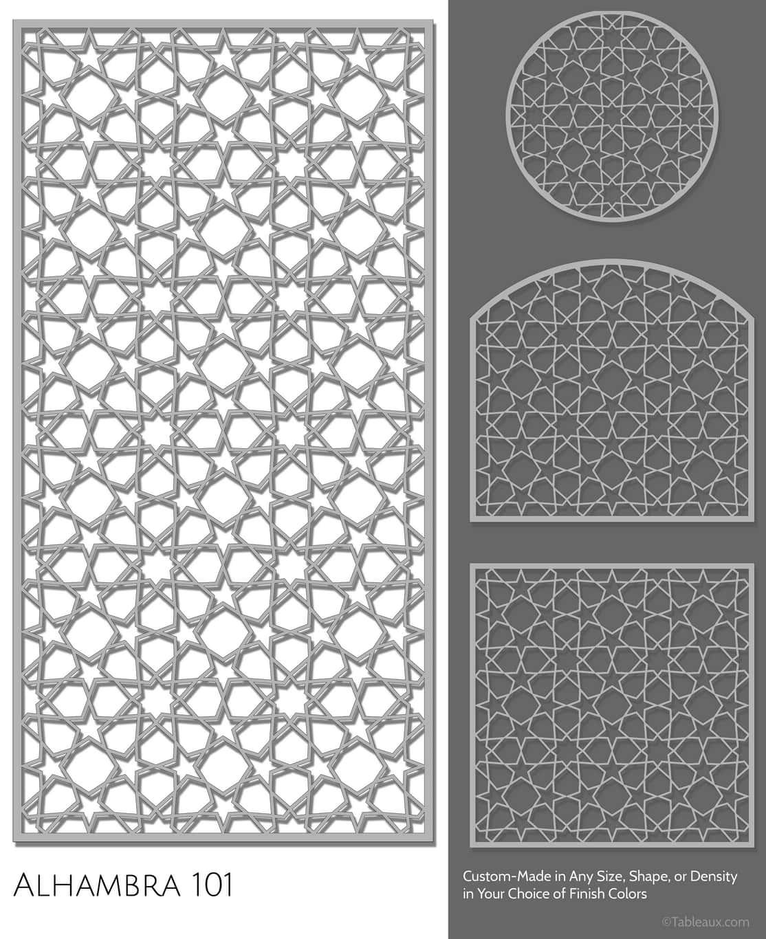 """Tableaux Decorative Grilles Design Pattern """"Alhambra"""""""