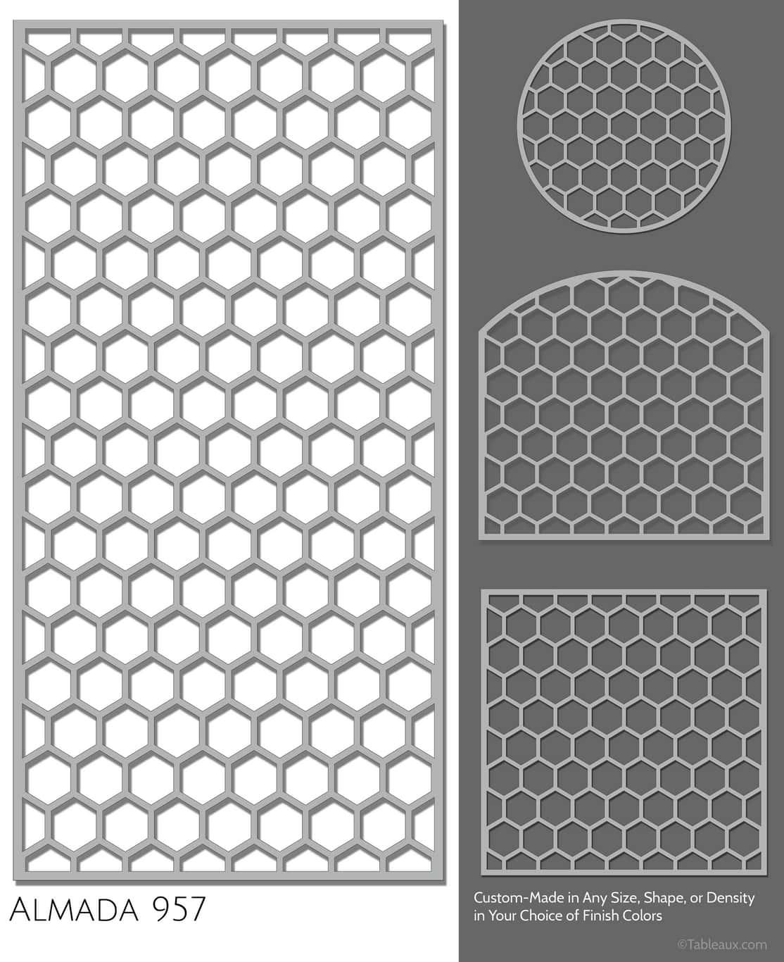 """Tableaux Decorative Grilles Design Pattern """"Almada"""""""