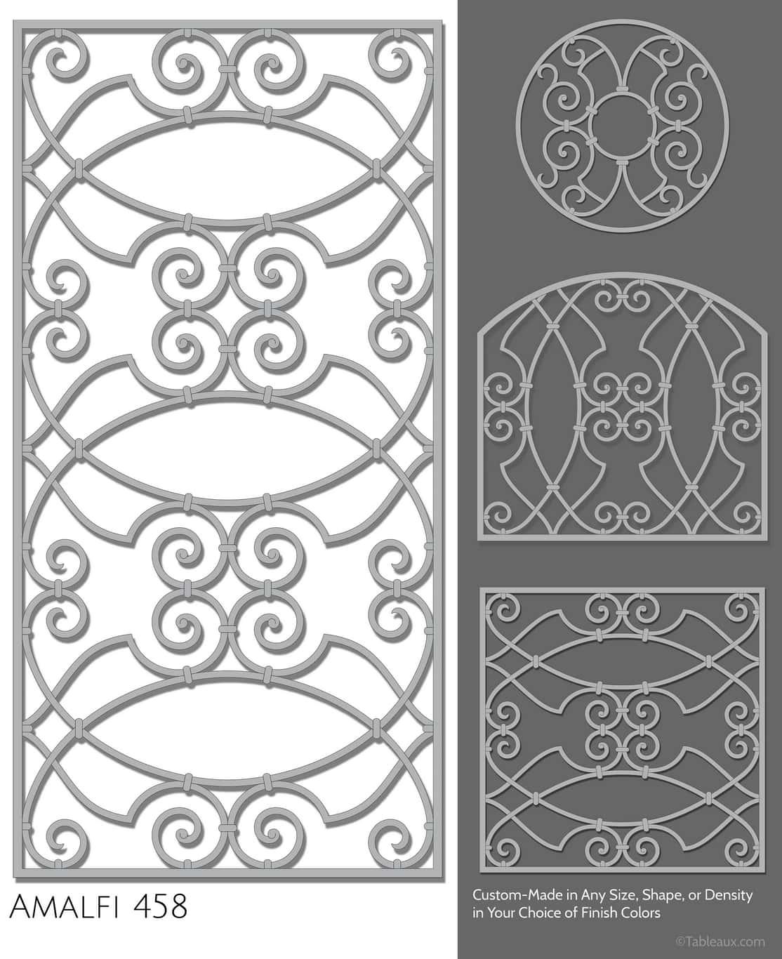 """Tableaux Decorative Grilles Design Pattern """"Amalfi"""""""