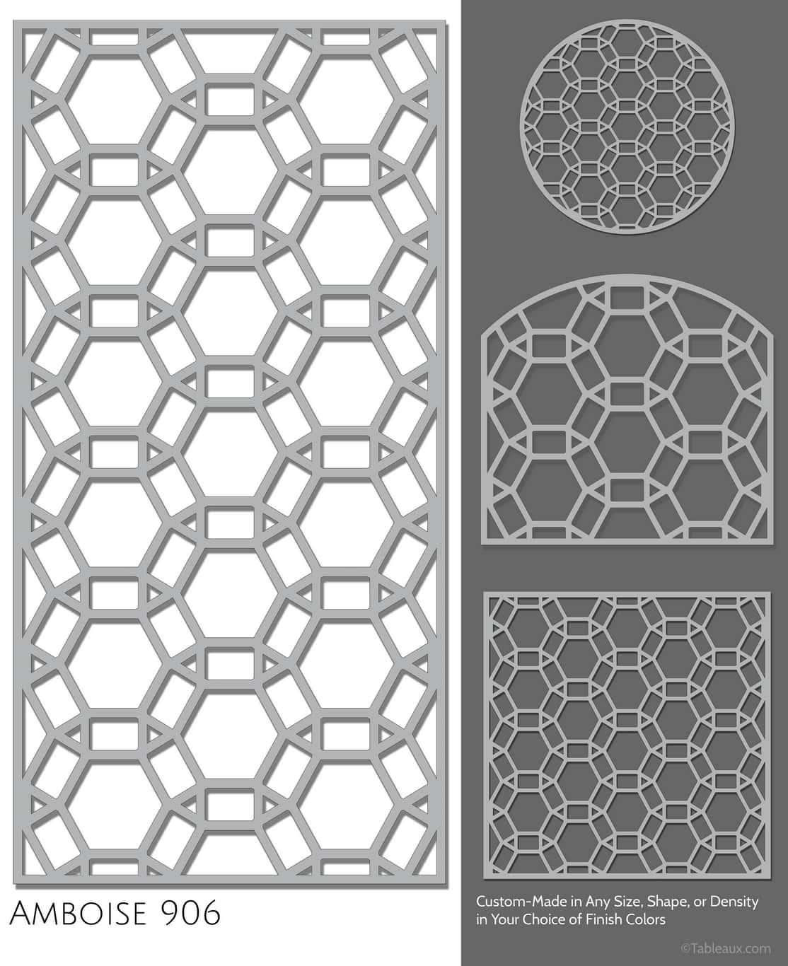 """Tableaux Decorative Grilles Design Pattern """"Amboise"""""""