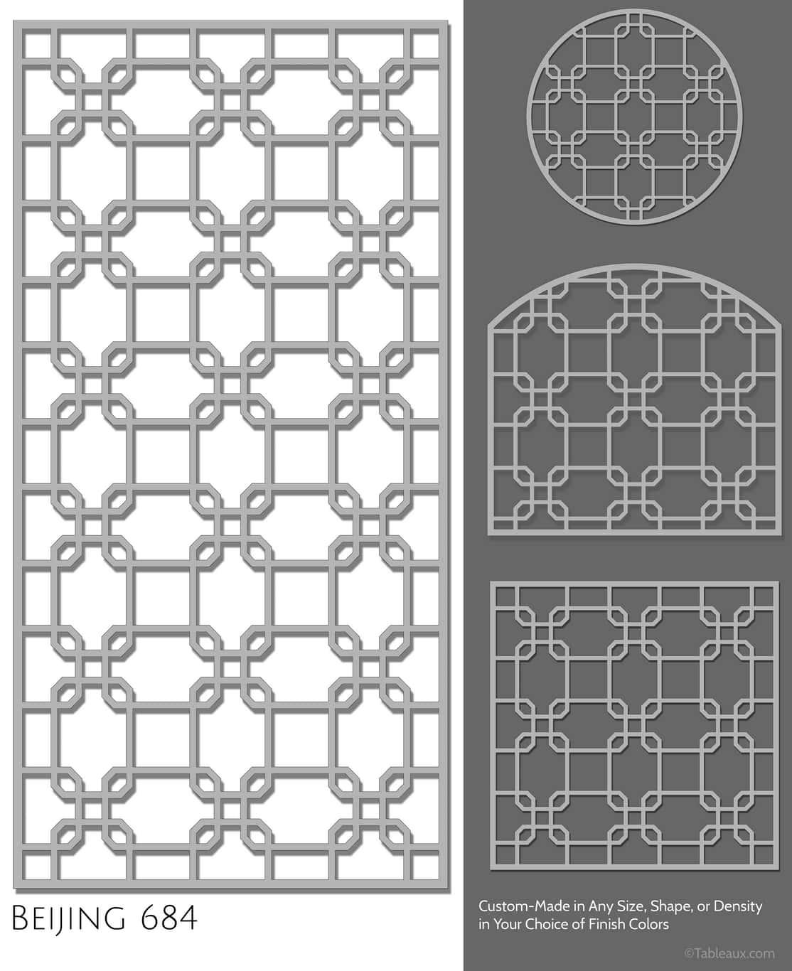 """Tableaux Decorative Grilles Design Pattern """"Beijing"""""""