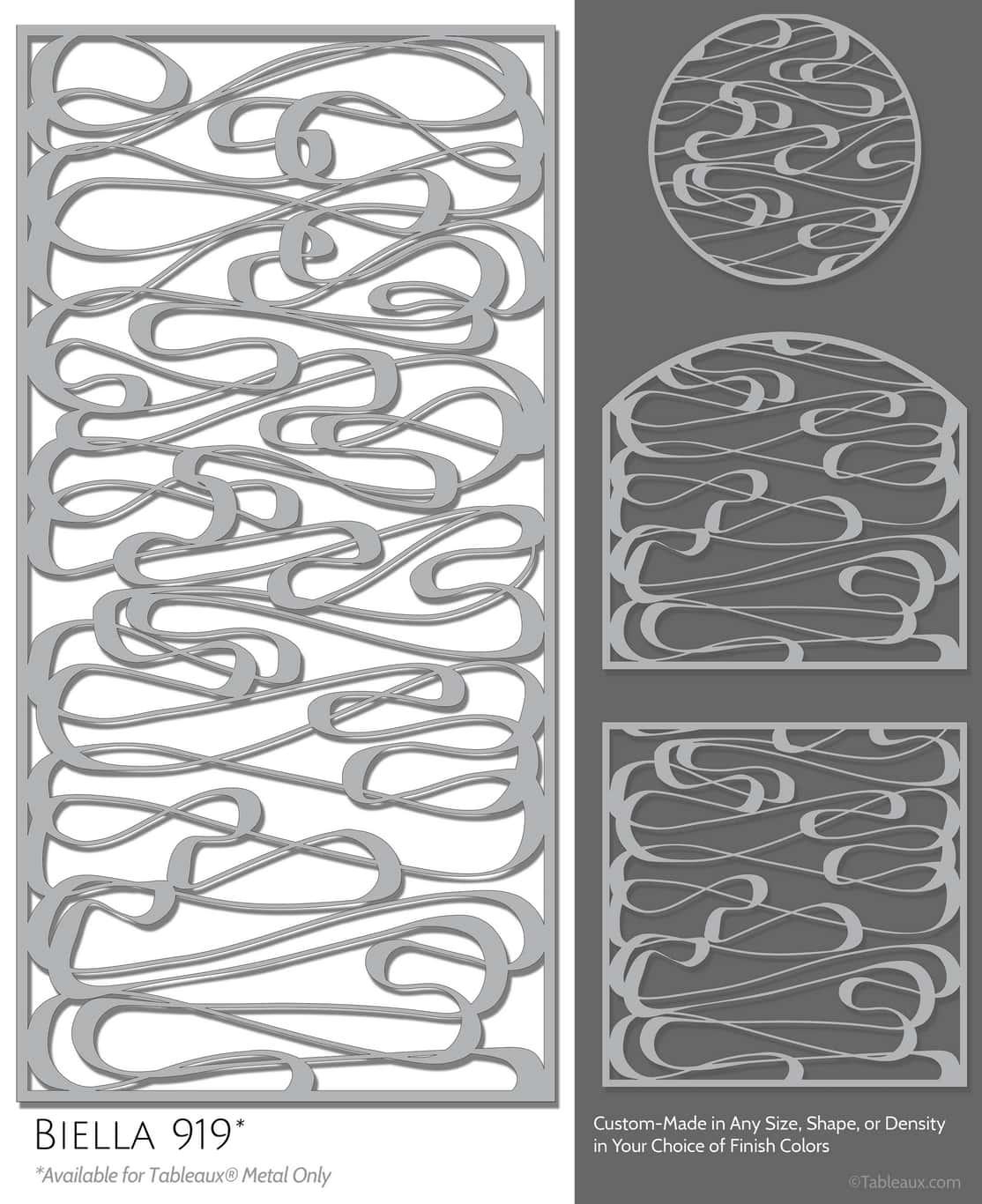 """Tableaux Decorative Grilles Design Pattern """"Biella"""""""