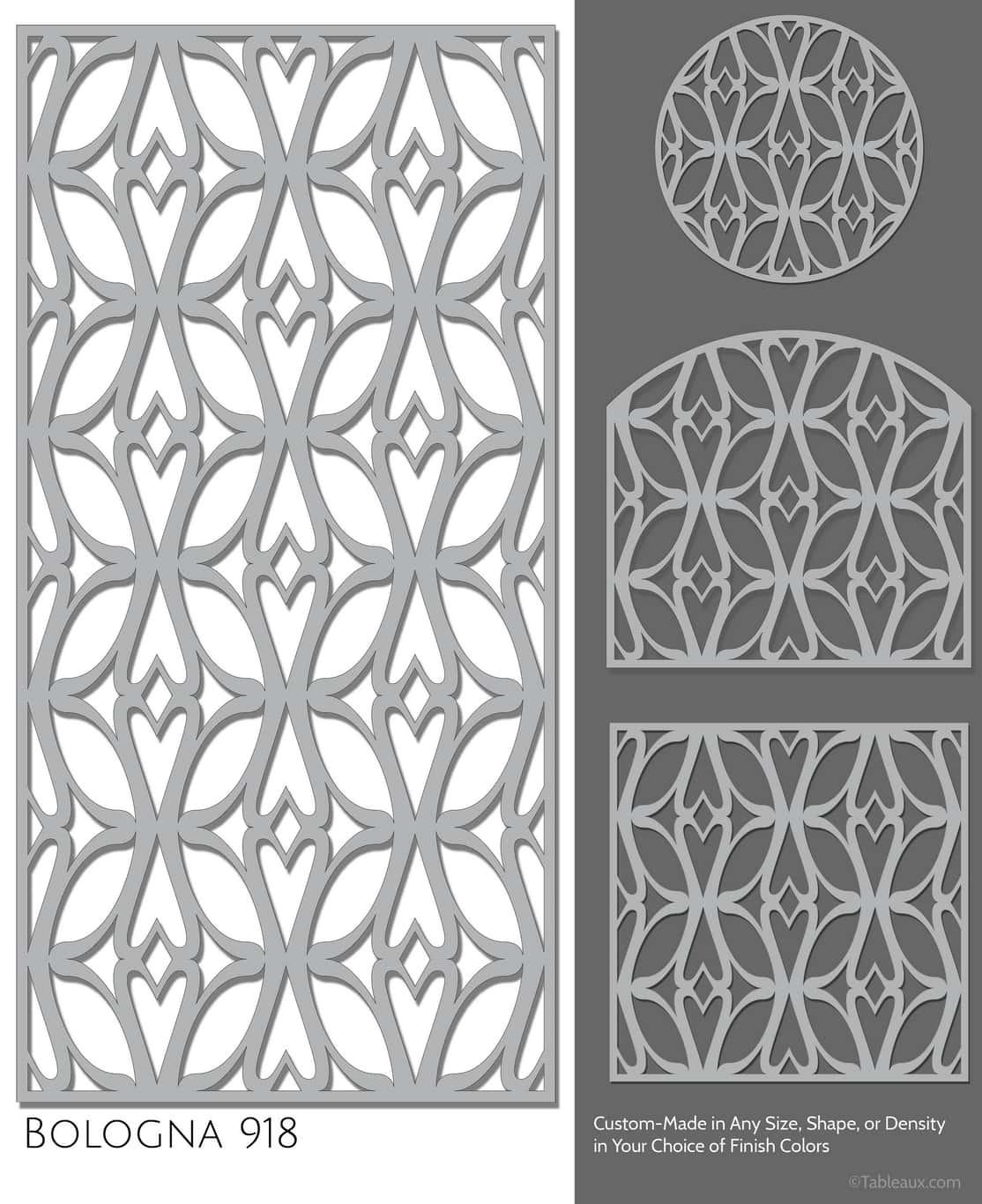 """Tableaux Decorative Grilles Design Pattern """"Bologna"""""""