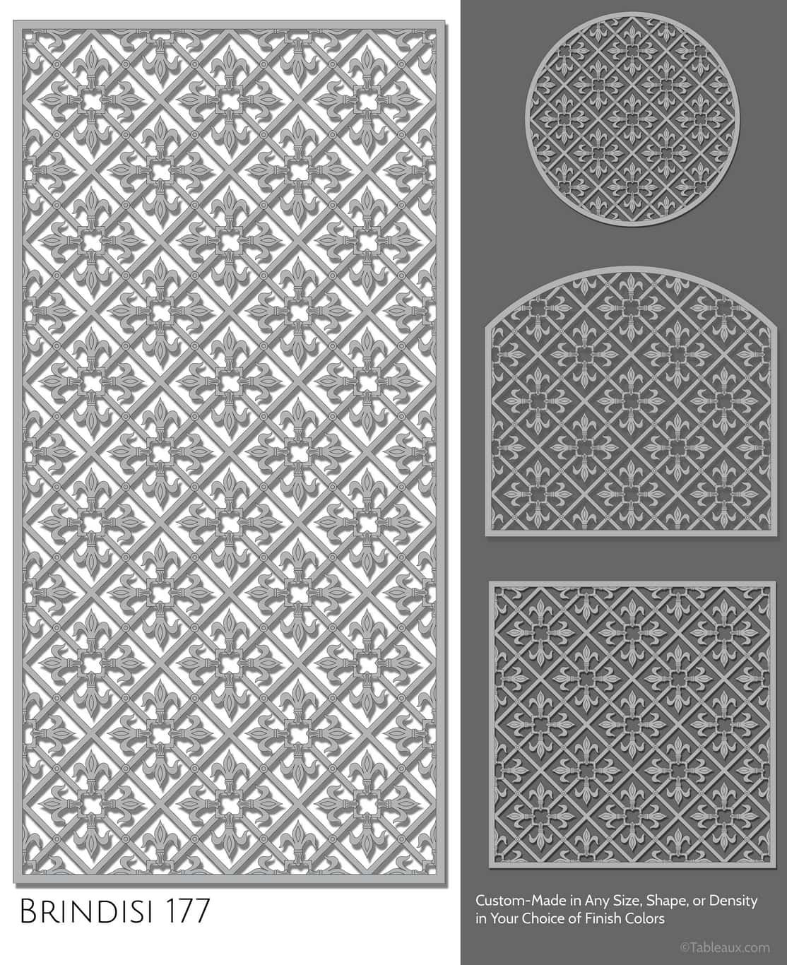 "Tableaux Decorative Grilles Design Pattern ""Brindisi"""
