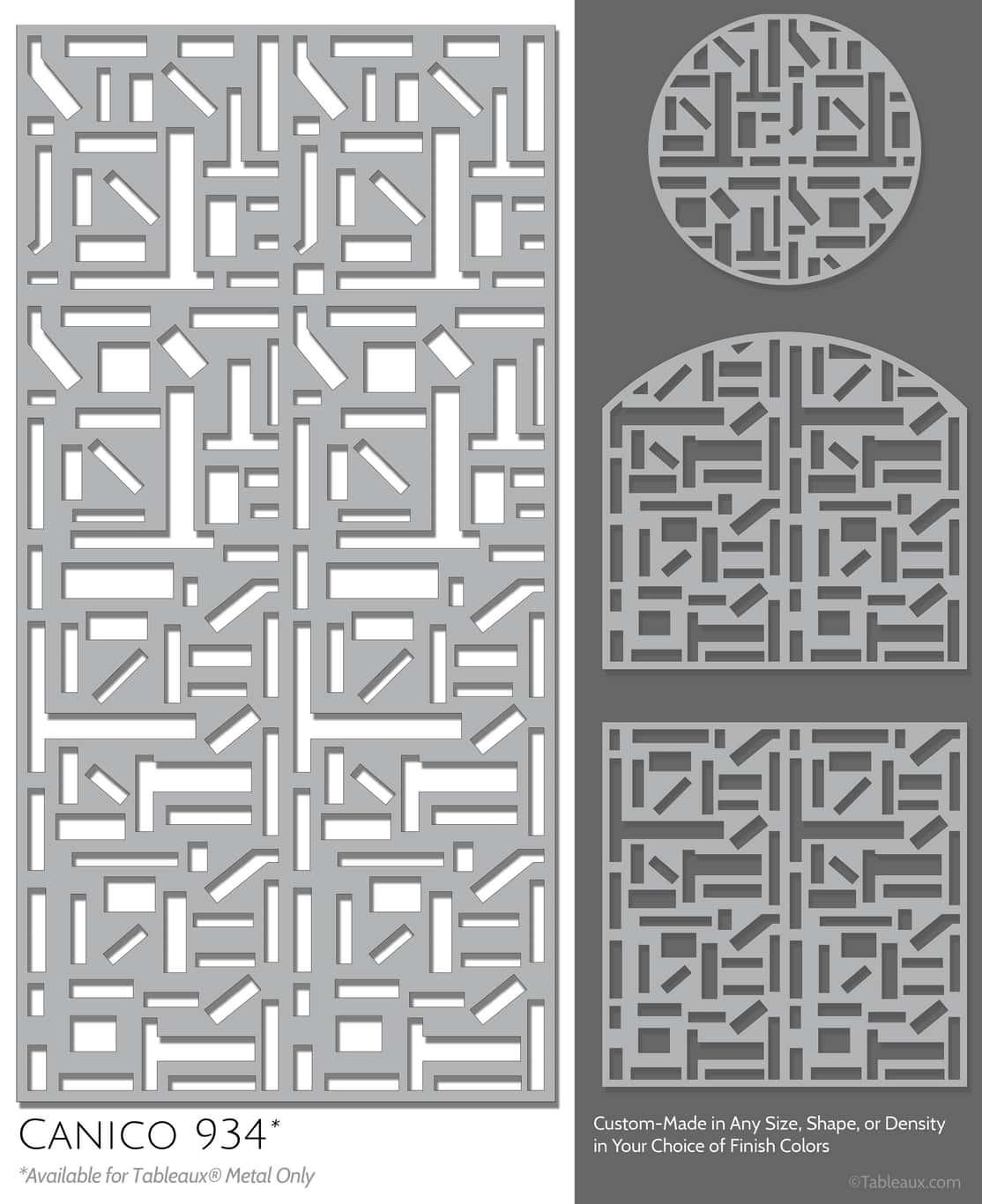 """Tableaux Decorative Grilles Design Pattern """"Canico"""""""