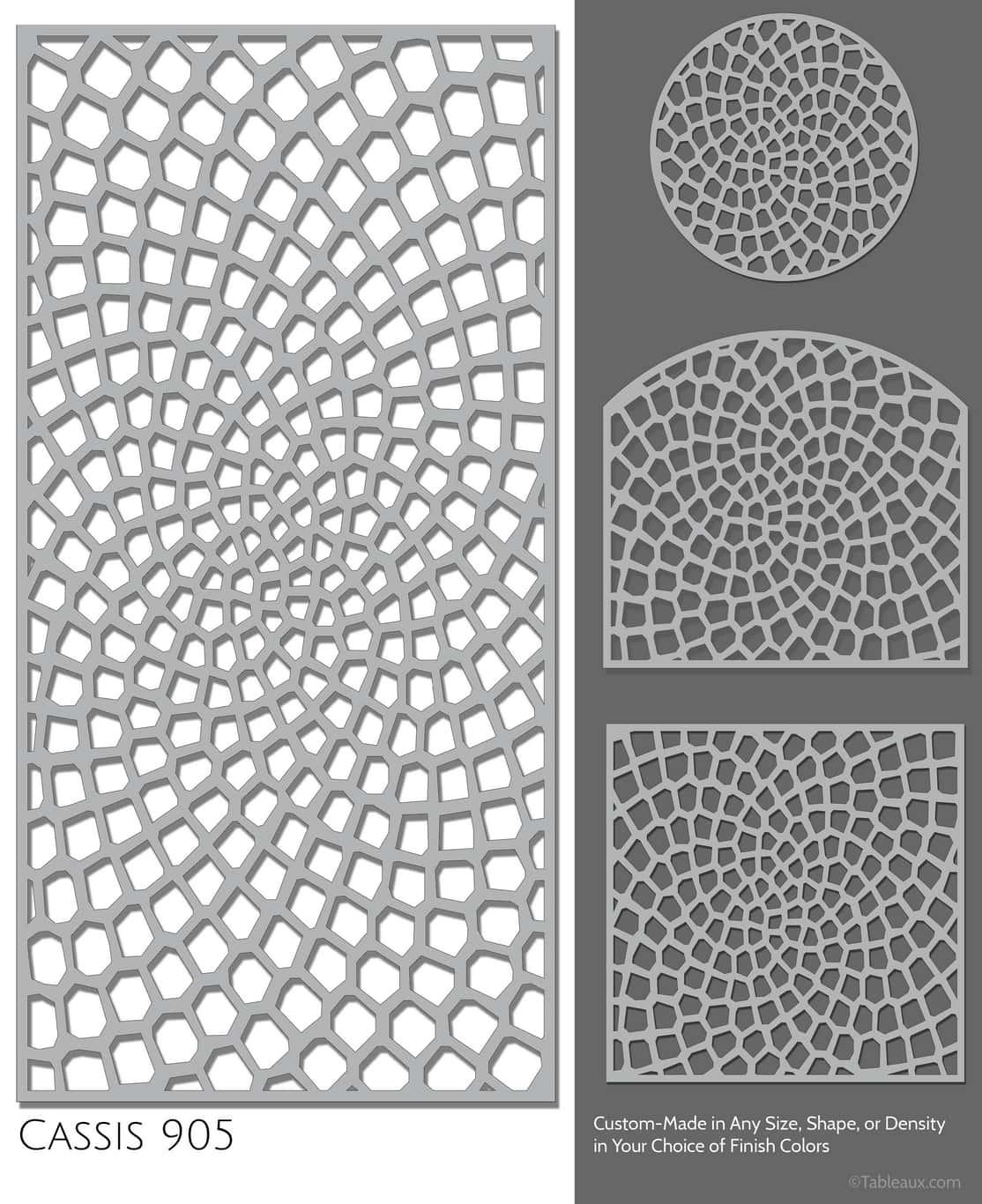 """Tableaux Decorative Grilles Design Pattern """"Cassis"""""""