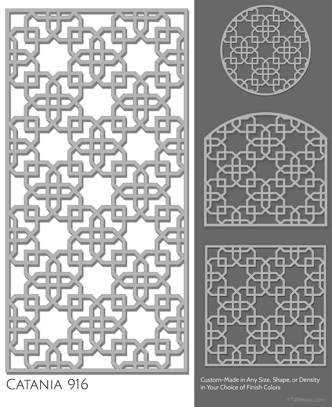 """Tableaux Decorative Grilles Design Pattern """"Catania"""""""