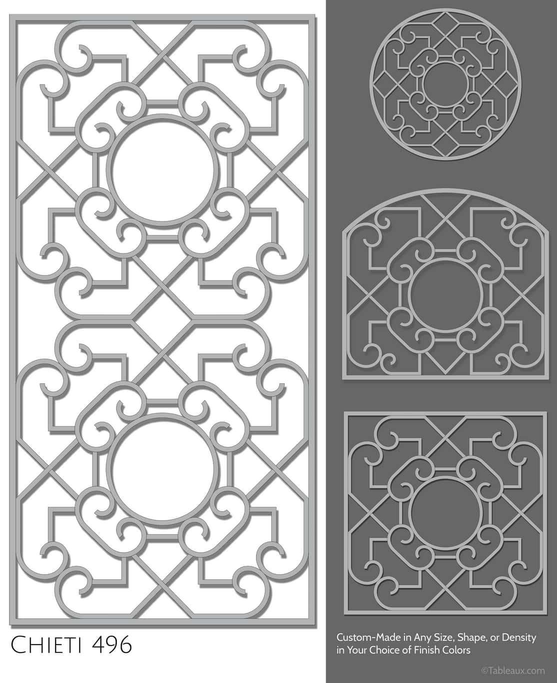 """Tableaux Decorative Grilles Design Pattern """"Chieti"""""""