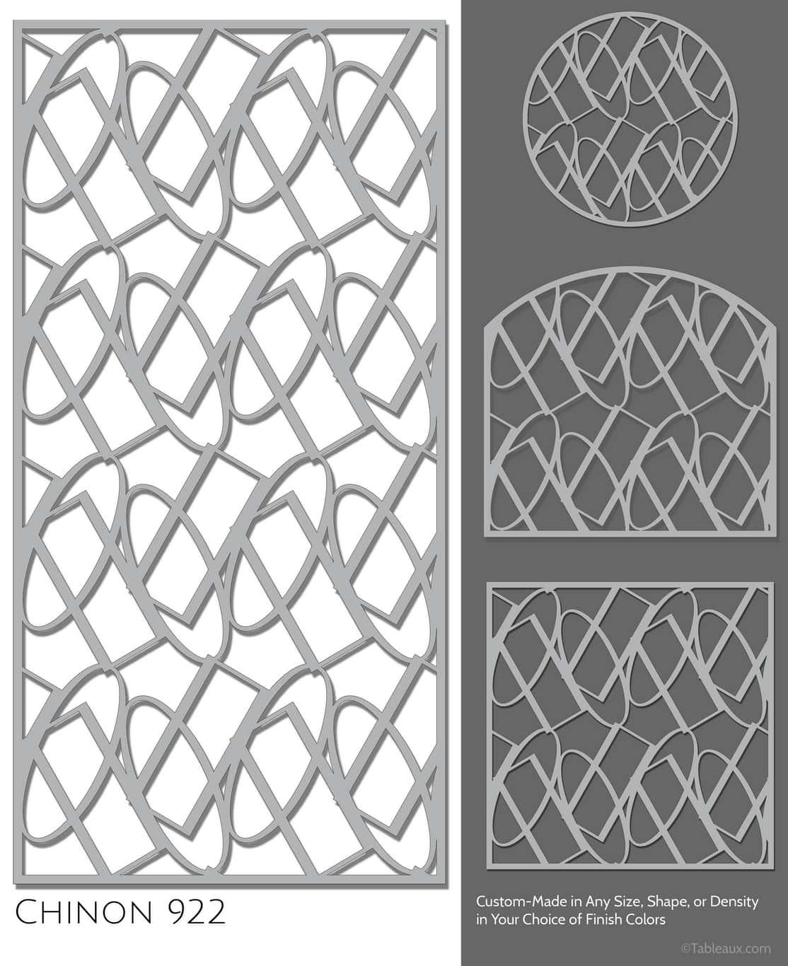 """Tableaux Decorative Grilles Design Pattern """"Chinon"""""""