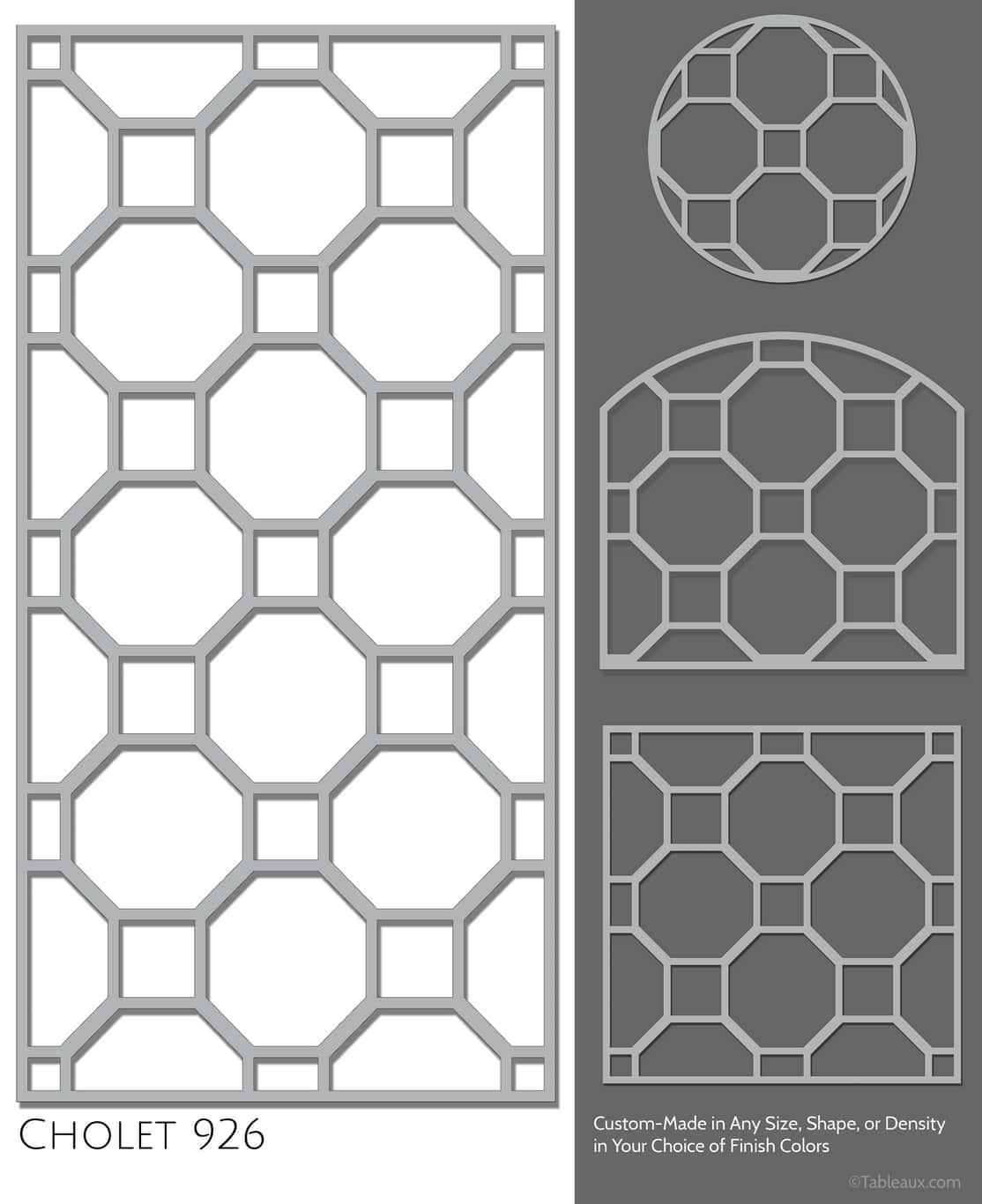 """Tableaux Decorative Grilles Design Pattern """"Cholet"""""""