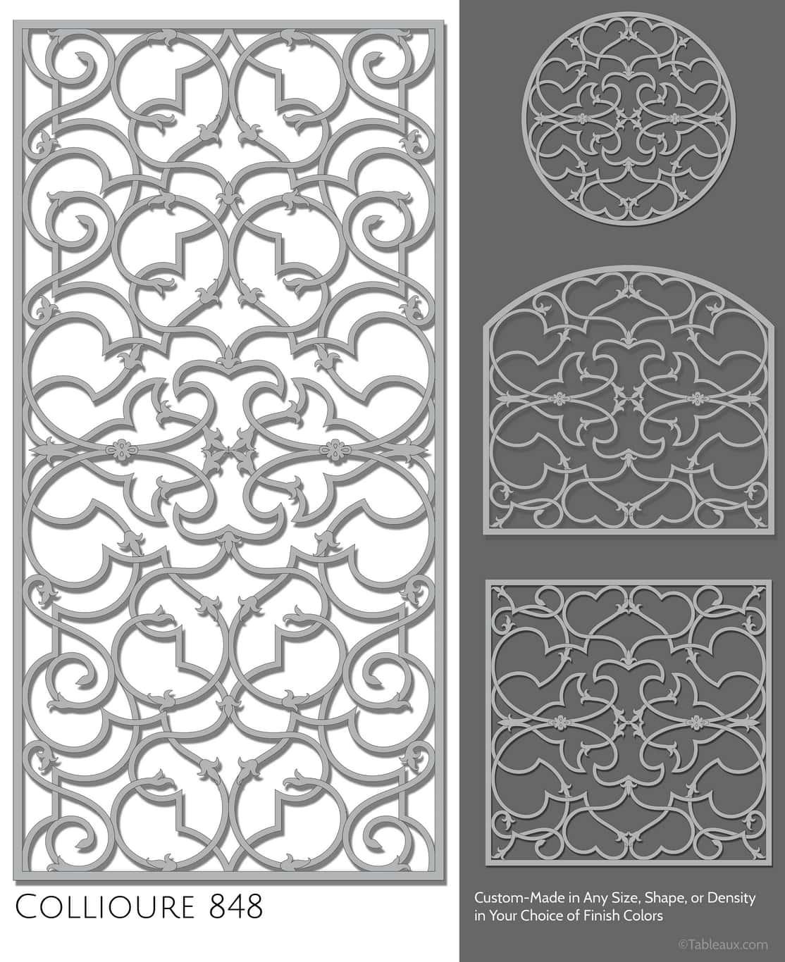 """Tableaux Decorative Grilles Design Pattern """"Collioure"""""""