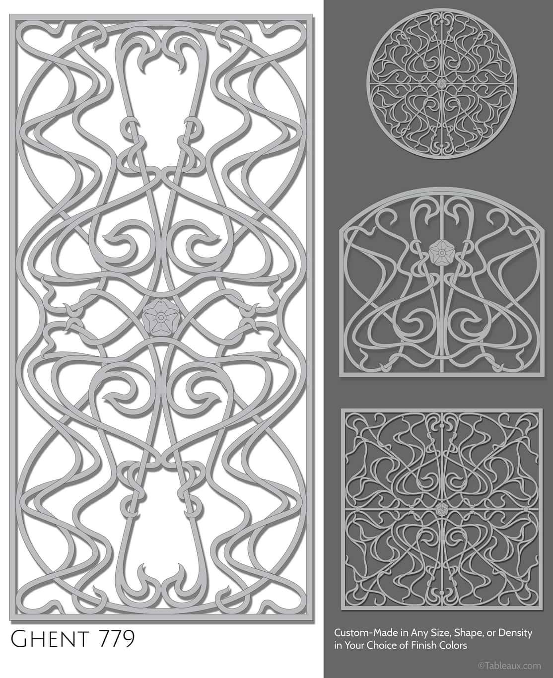 """Tableaux Decorative Grilles Design Pattern """"Ghent"""""""