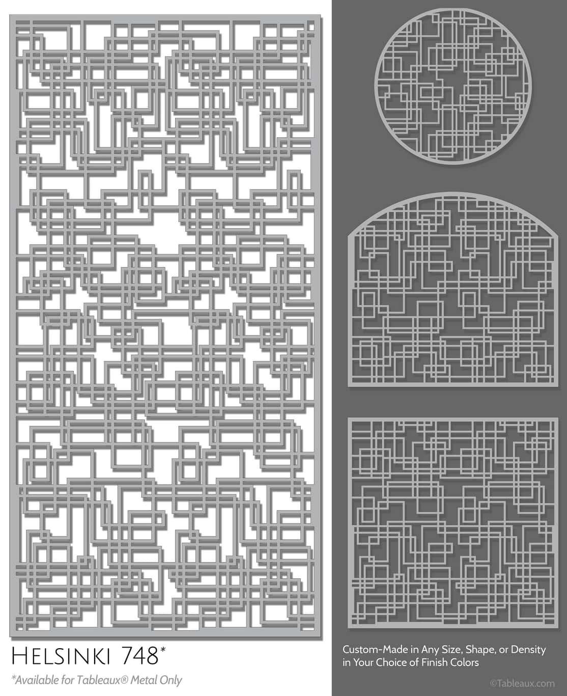 "Tableaux Decorative Grilles Design Pattern ""Helsinki"""