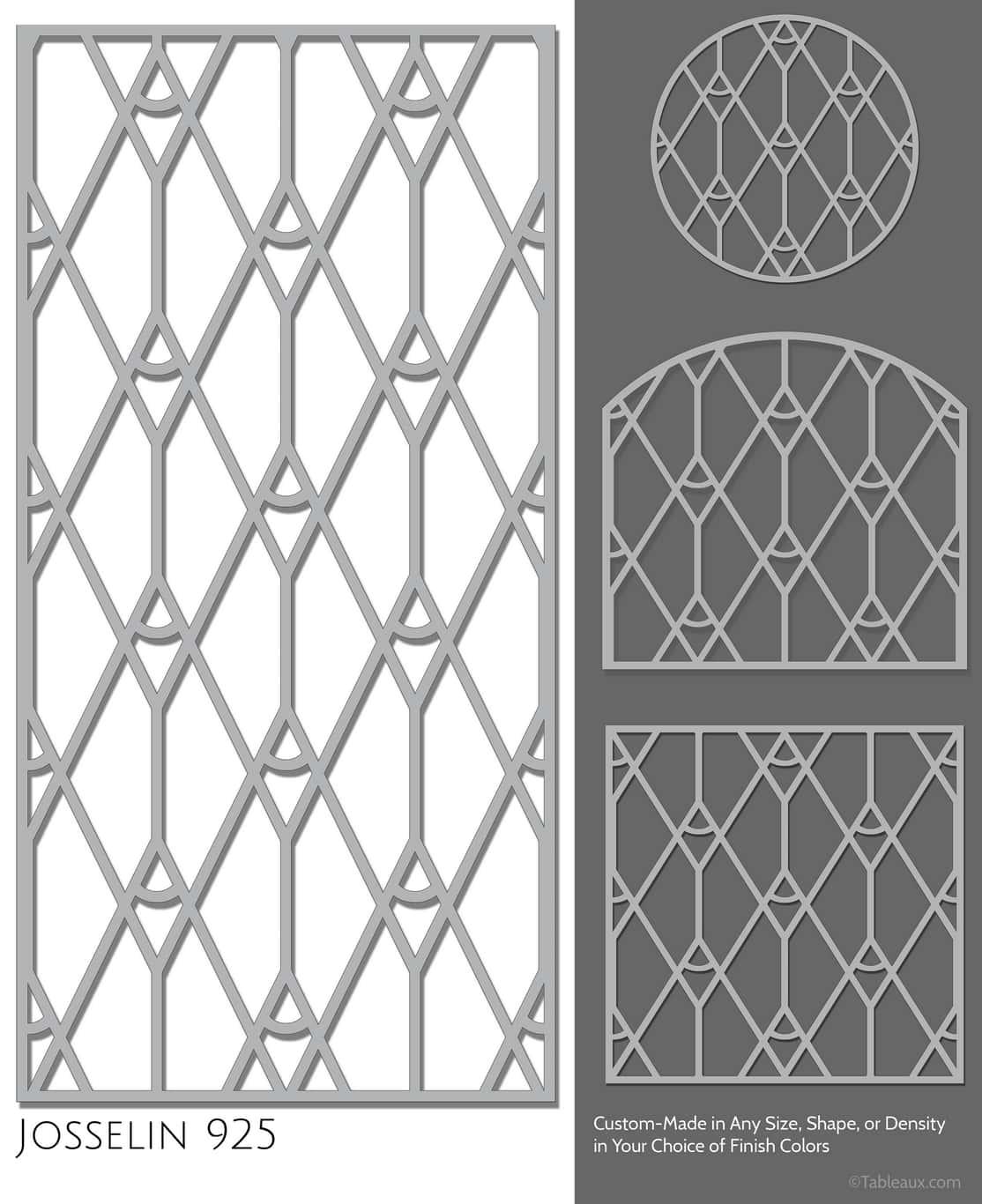 "Tableaux Decorative Grilles Design Pattern ""Josselin"""