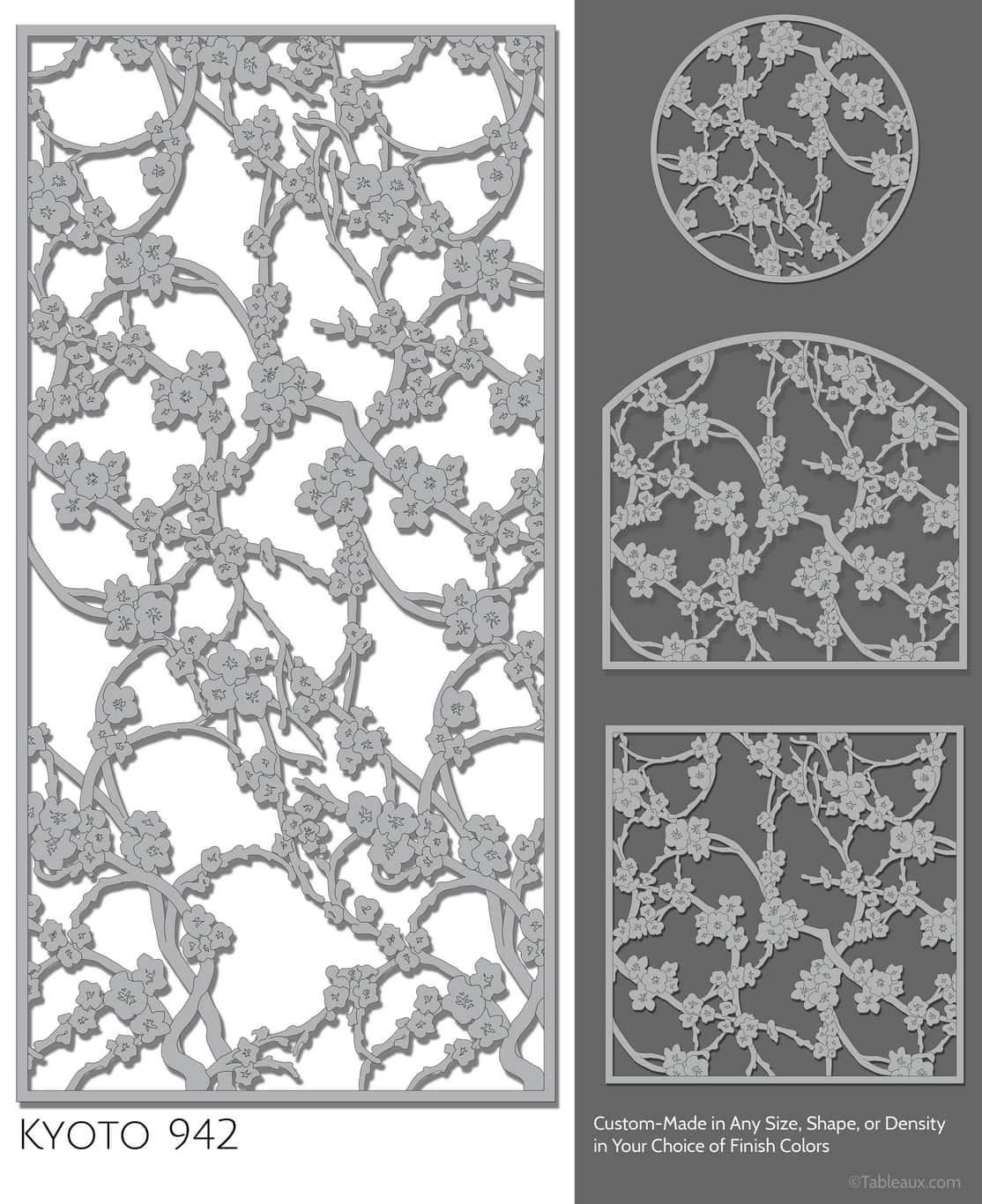 """Tableaux Decorative Grilles Design Pattern """"Kyoto"""""""