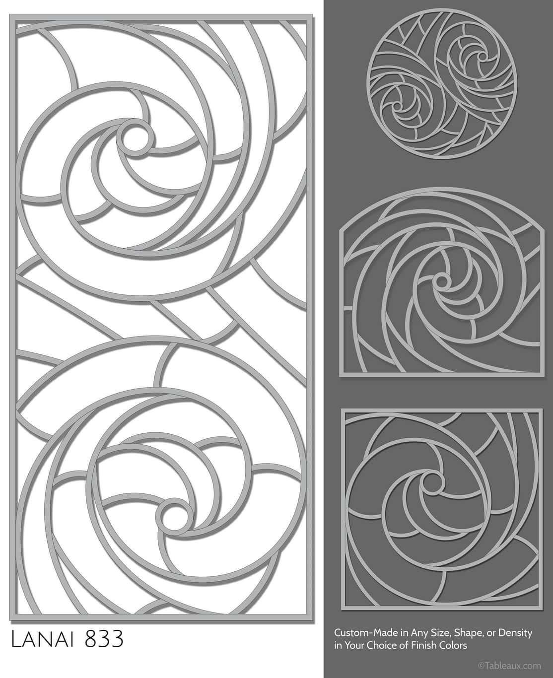 """Tableaux Decorative Grilles Design Pattern """"Lanai"""""""