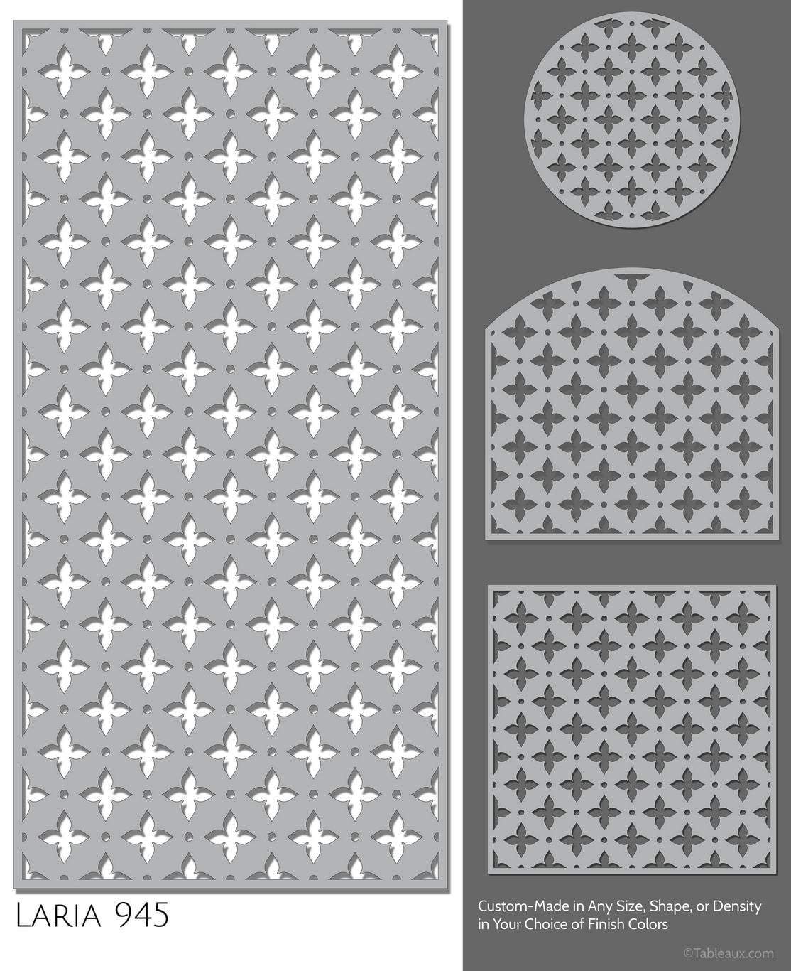 """Tableaux Decorative Grilles Design Pattern """"Laria"""""""
