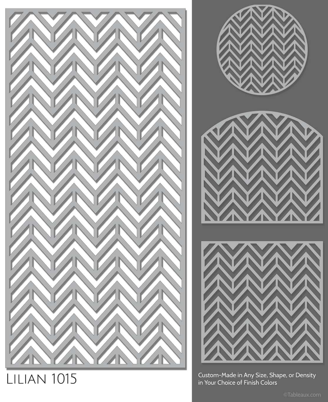 """Tableaux Decorative Grilles Design Pattern """"Lilian"""""""