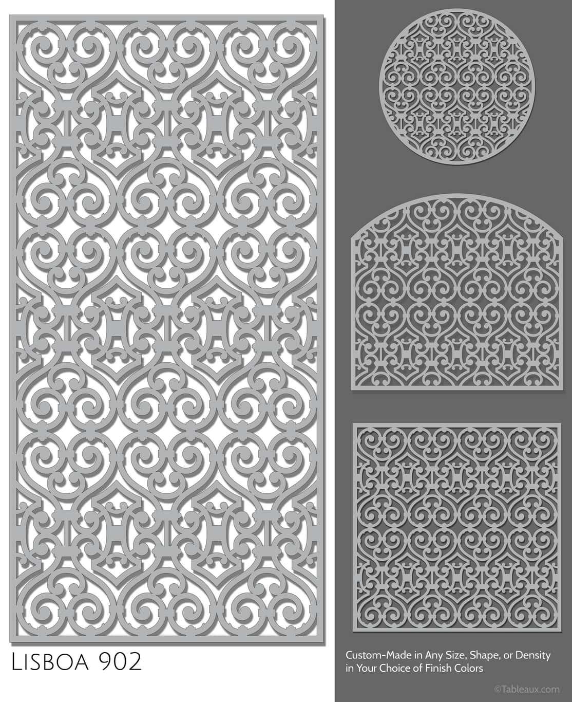 """Tableaux Decorative Grilles Design Pattern """"Lisboa"""""""