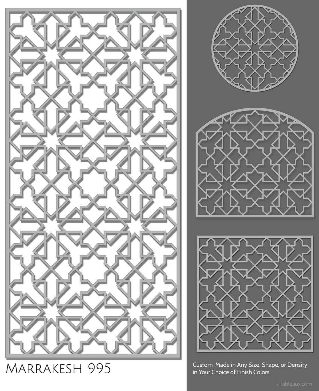 """Tableaux Decorative Grilles Design Pattern """"Marrakesh"""""""