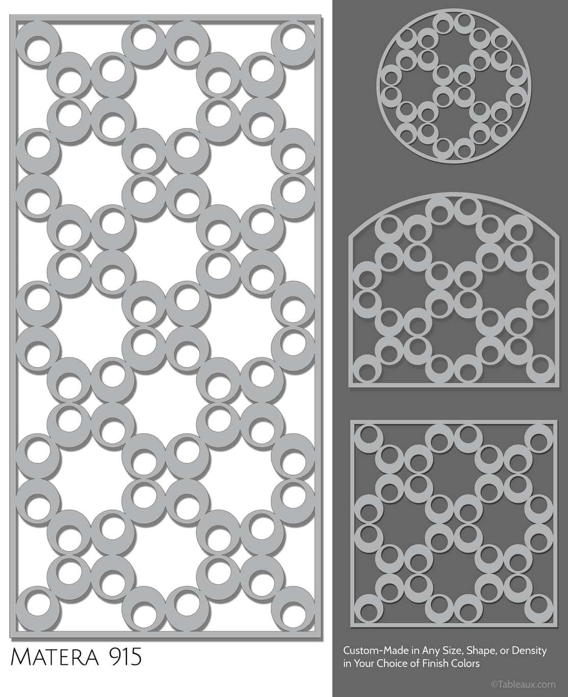 """Tableaux Decorative Grilles Design Pattern """"Matera"""""""
