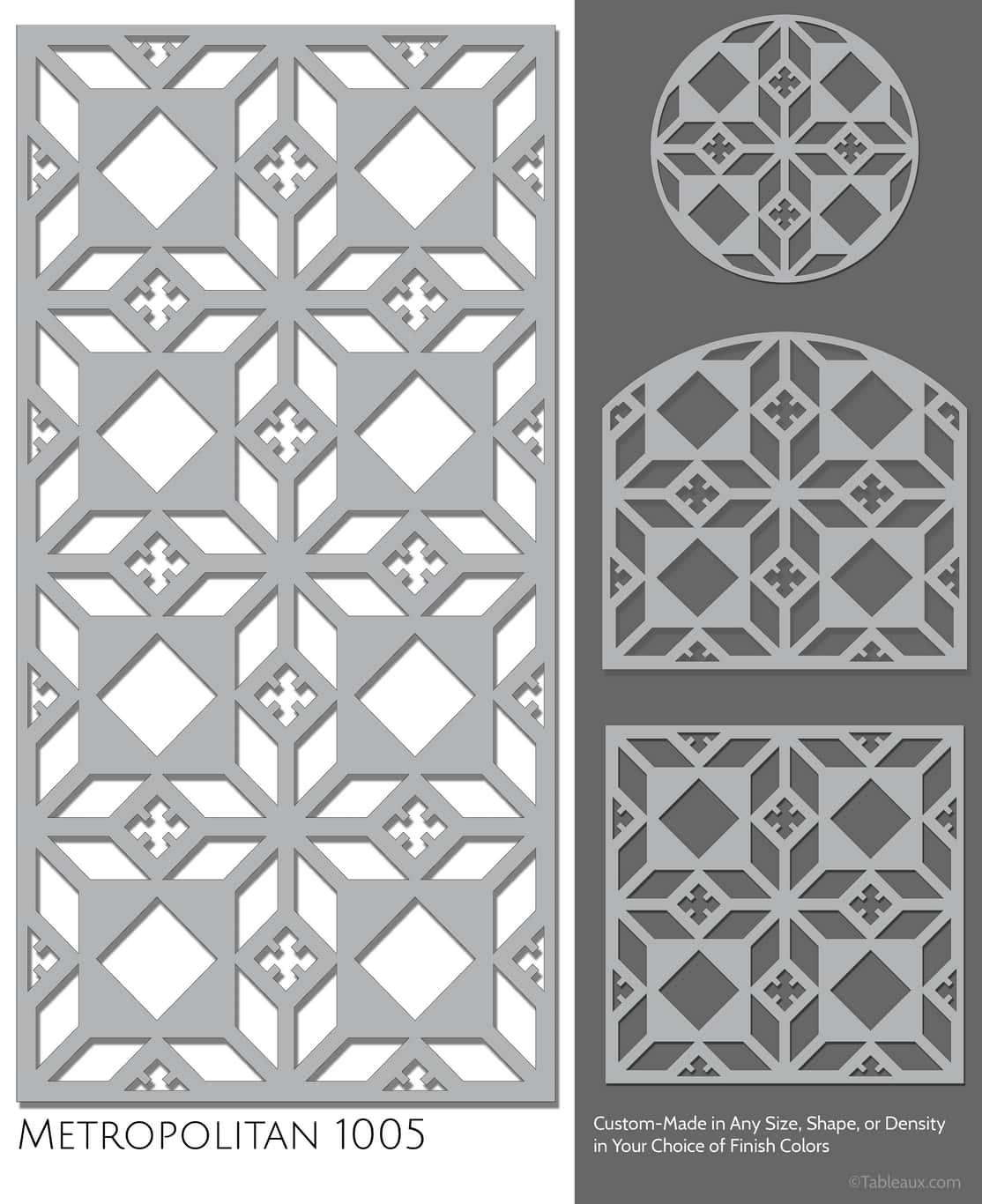 """Tableaux Decorative Grilles Design Pattern """"Metropolitan"""""""