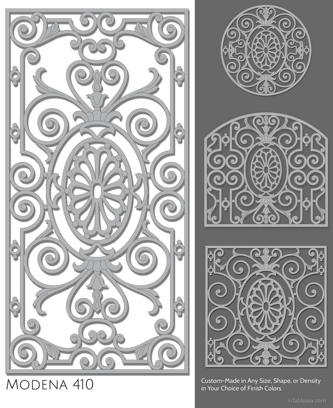 """Tableaux Decorative Grilles Design Pattern """"Modena"""""""