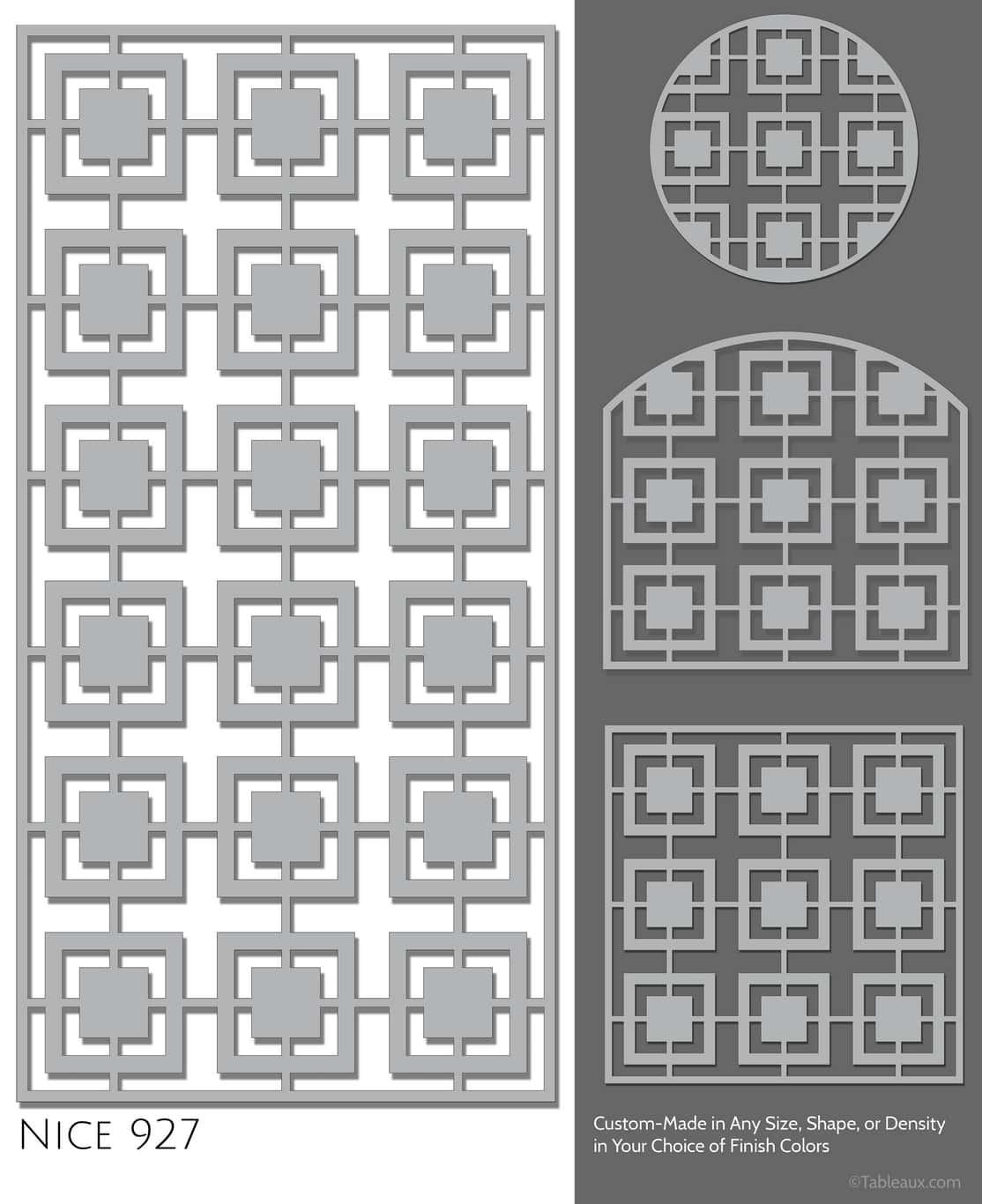 """Tableaux Decorative Grilles Design Pattern """"Nice"""""""