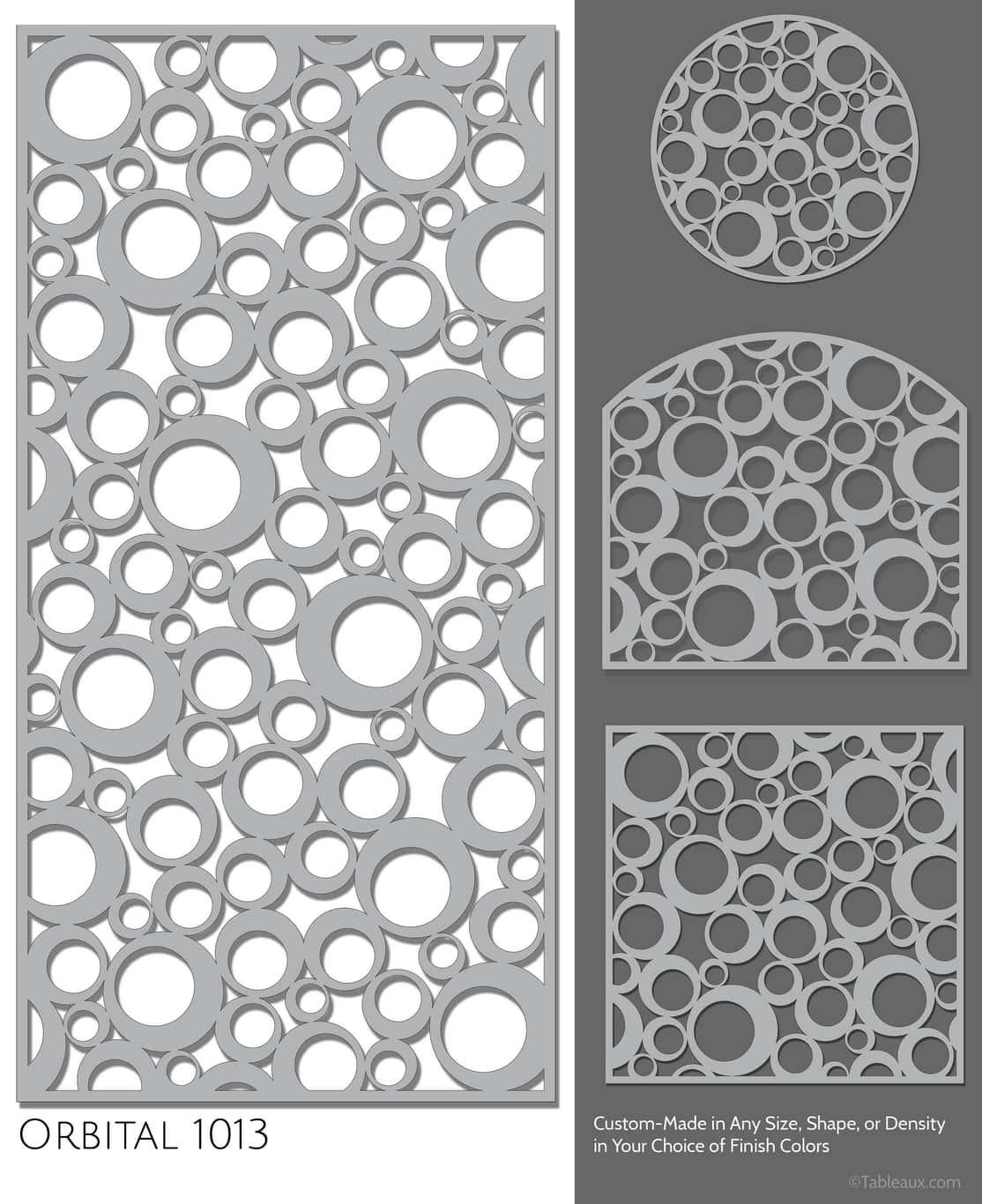 "Tableaux Decorative Grilles Design Pattern ""Orbital"""