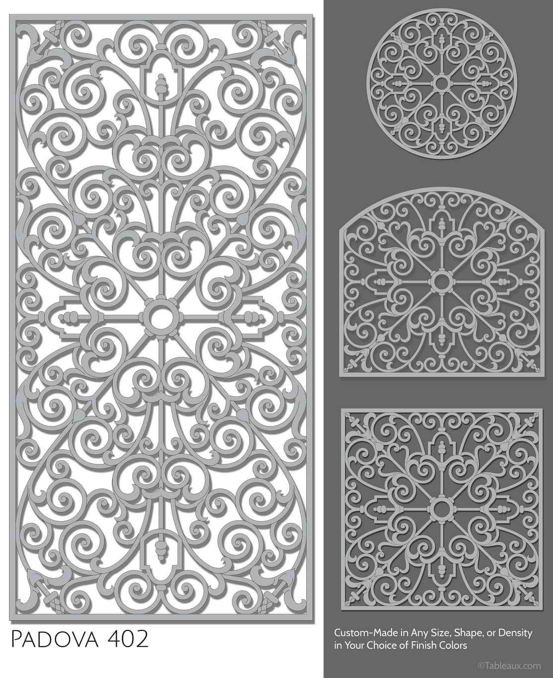 """Tableaux Decorative Grilles Design Pattern """"Padova"""""""