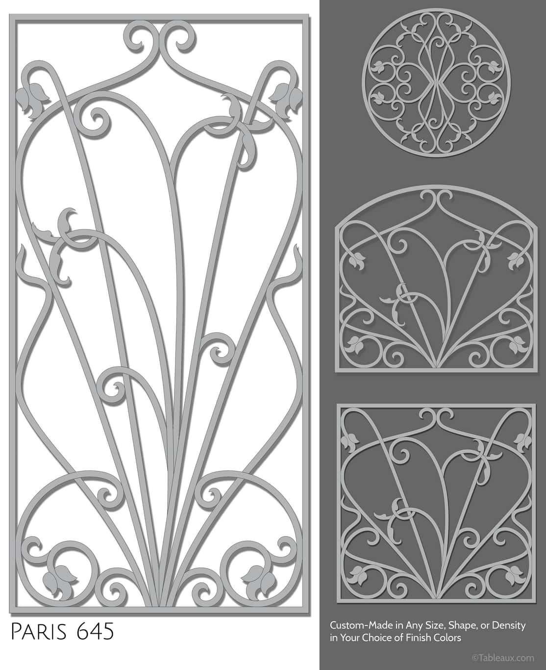 """Tableaux Decorative Grilles Design Pattern """"Paris"""""""
