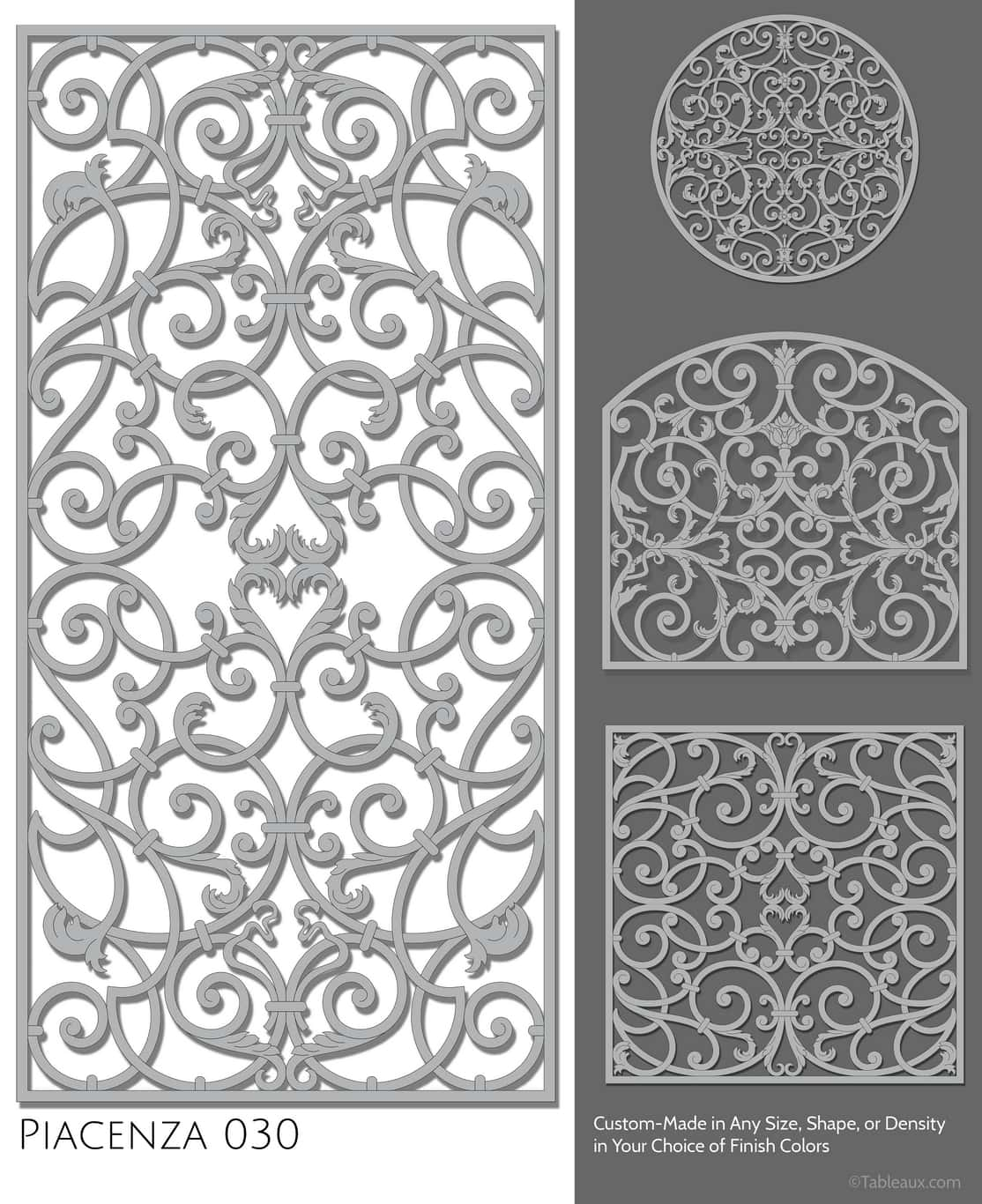 """Tableaux Decorative Grilles Design Pattern """"Piacenza"""""""