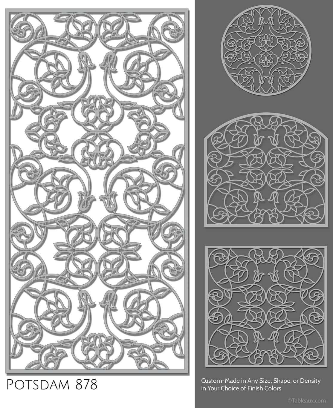 """Tableaux Decorative Grilles Design Pattern """"Potsdam"""""""