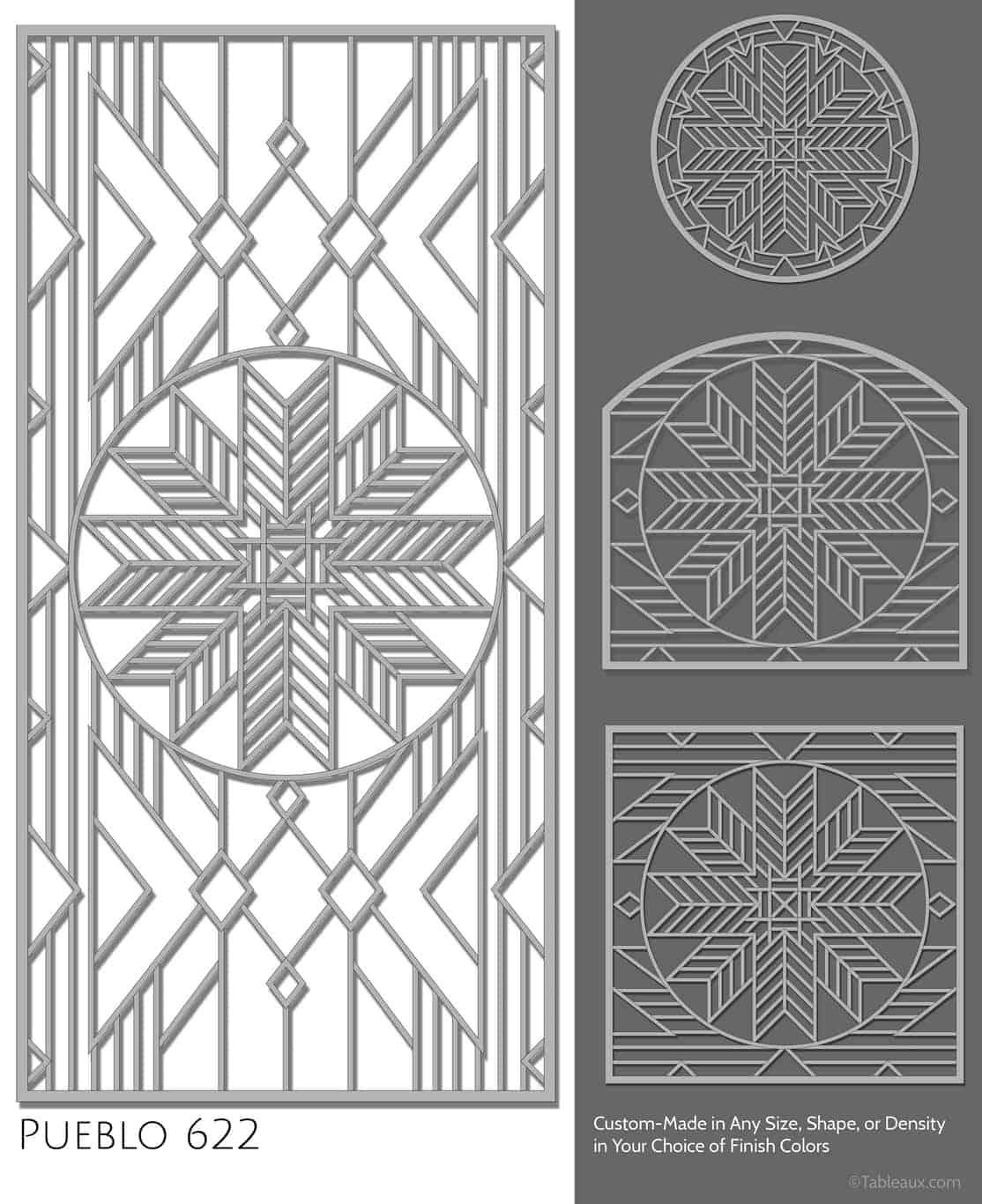 """Tableaux Decorative Grilles Design Pattern """"Pueblo"""""""