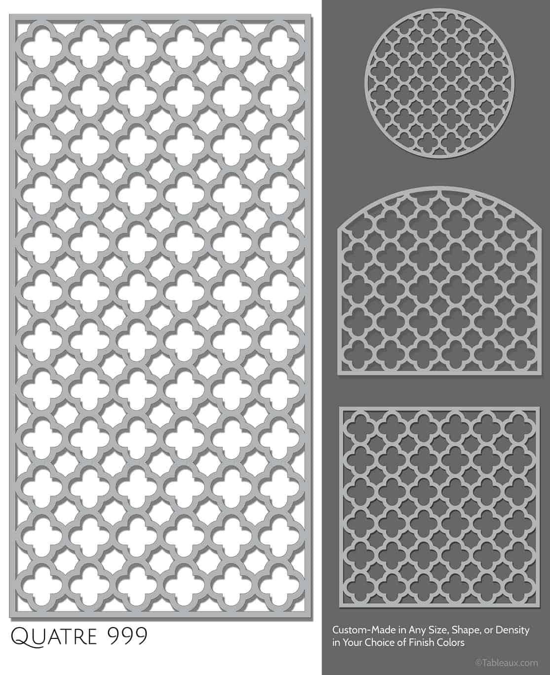 """Tableaux Decorative Grilles Design Pattern """"Quatre"""""""