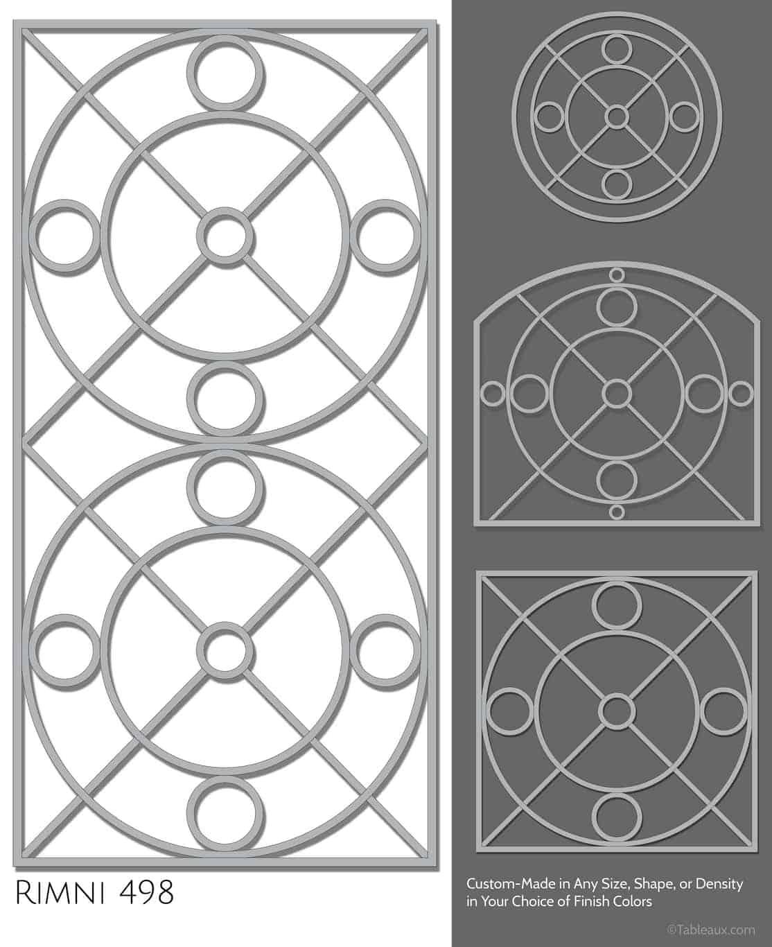 """Tableaux Decorative Grilles Design Pattern """"Rimni"""""""