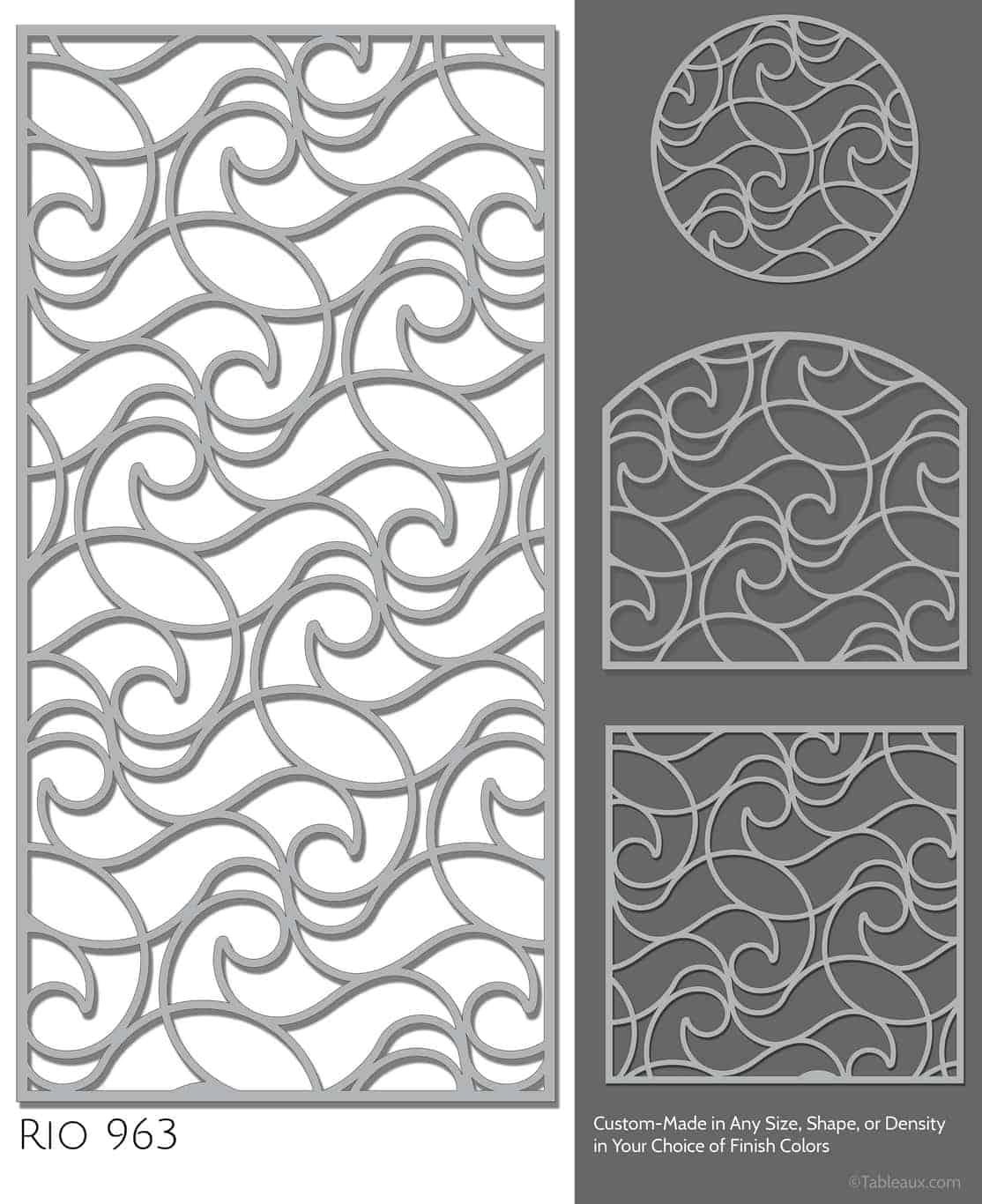 """Tableaux Decorative Grilles Design Pattern """"Rio"""""""