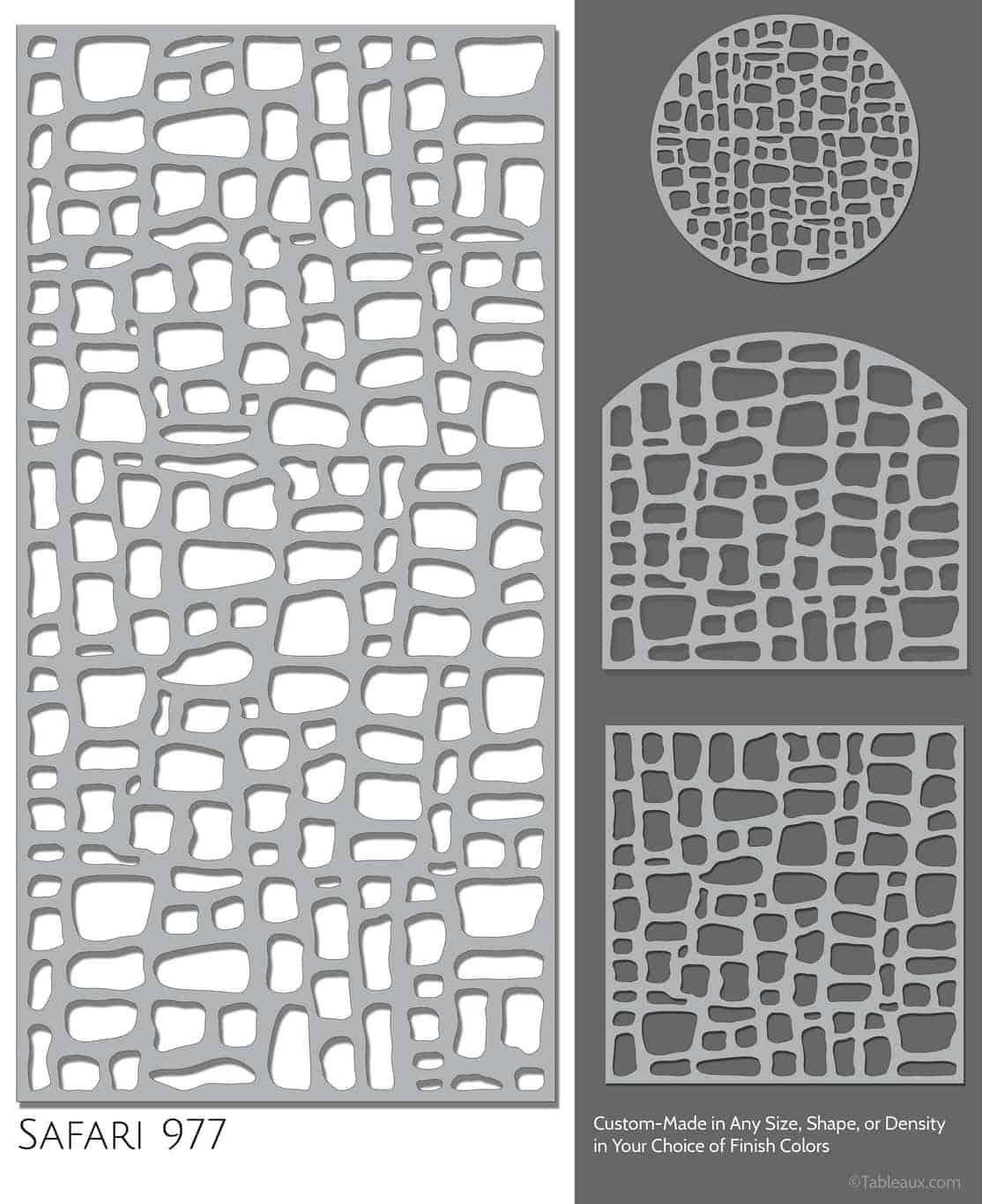 """Tableaux Decorative Grilles Design Pattern """"Safari"""""""