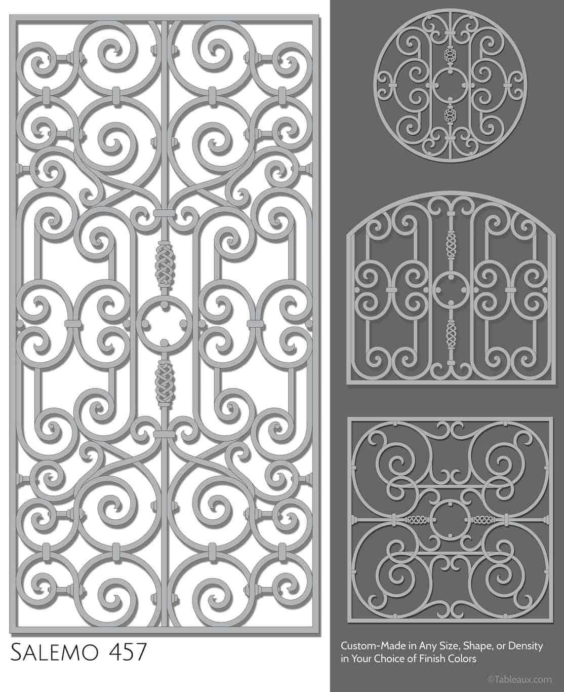 "Tableaux Decorative Grilles Design Pattern ""Salemo"""