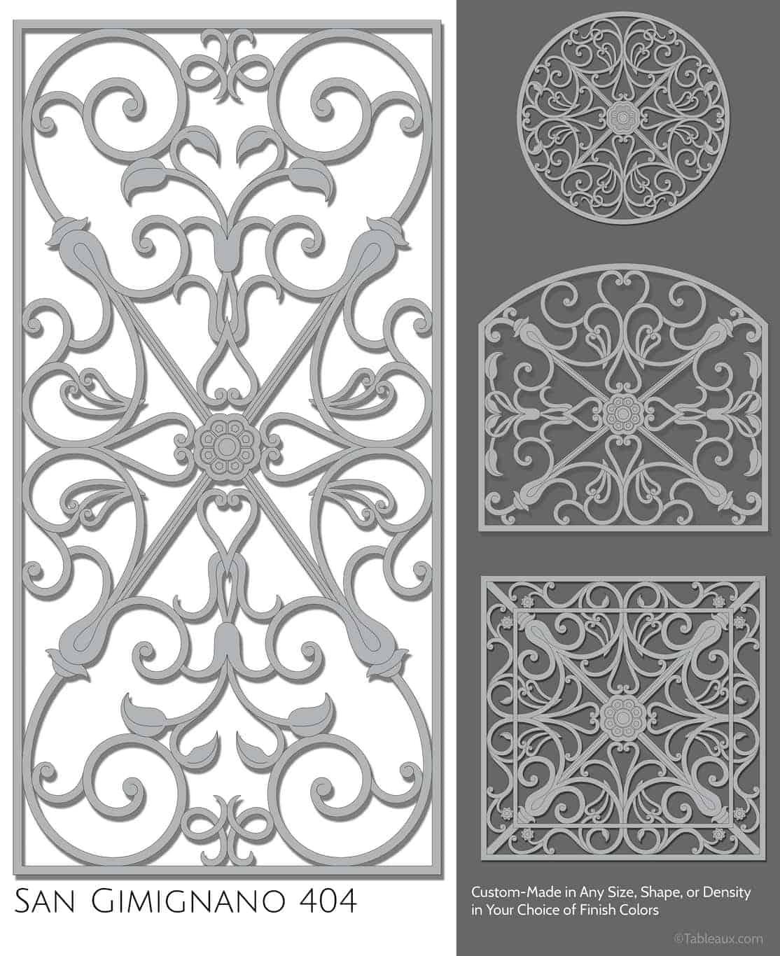 """Tableaux Decorative Grilles Design Pattern """"San Gimignano"""""""