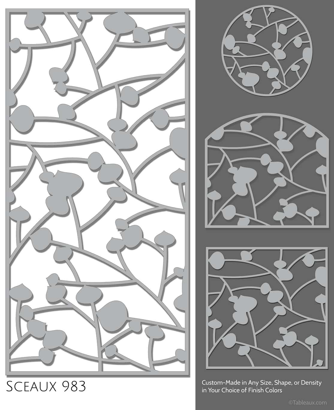 """Tableaux Decorative Grilles Design Pattern """"Sceaux"""""""