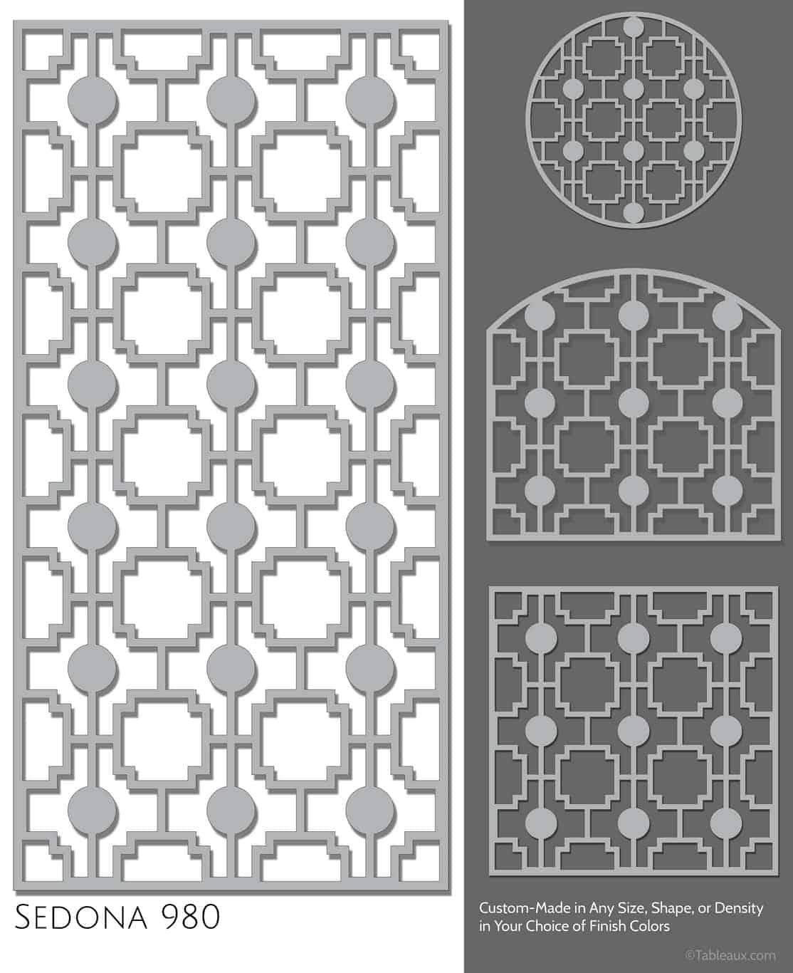 """Tableaux Decorative Grilles Design Pattern """"Sedona"""""""