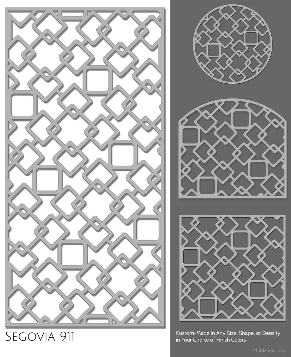 "Tableaux Decorative Grilles Design Pattern ""Segovia"""
