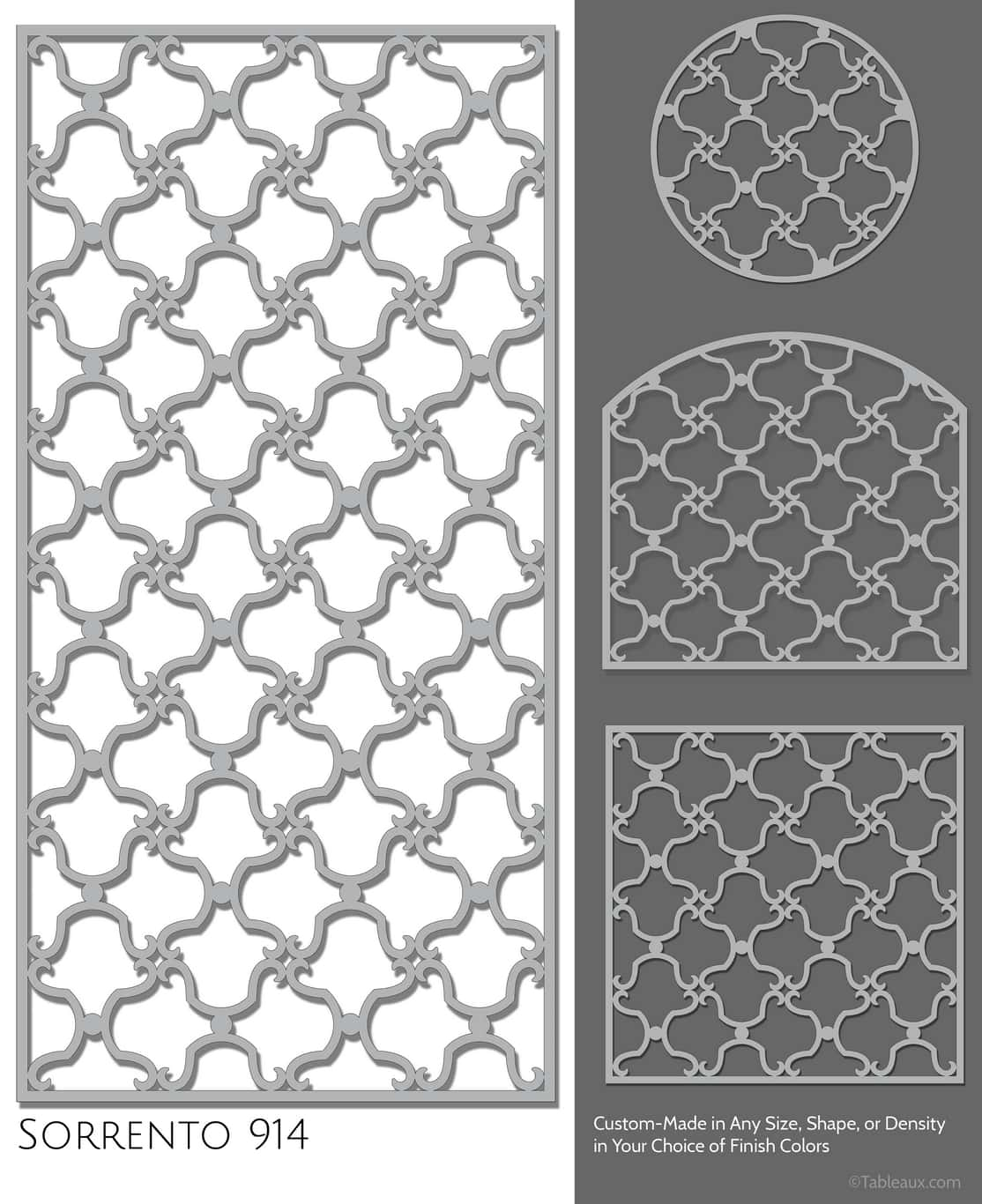 "Tableaux Decorative Grilles Design Pattern ""Sorrento"""