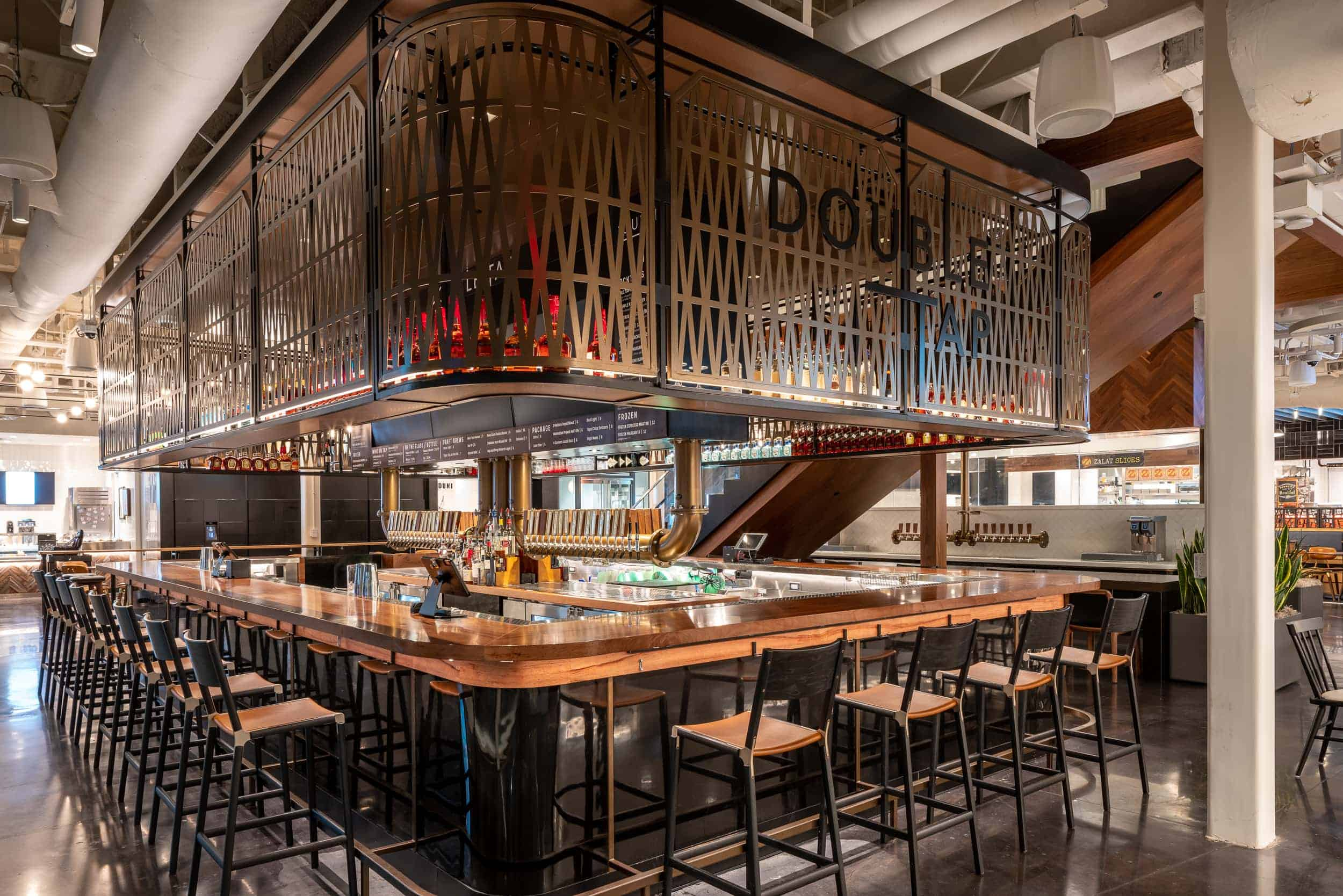 """Tableaux Decorative Grilles at """"Double Tap Bar"""", AT&T Discovery District, Dallas, TX"""