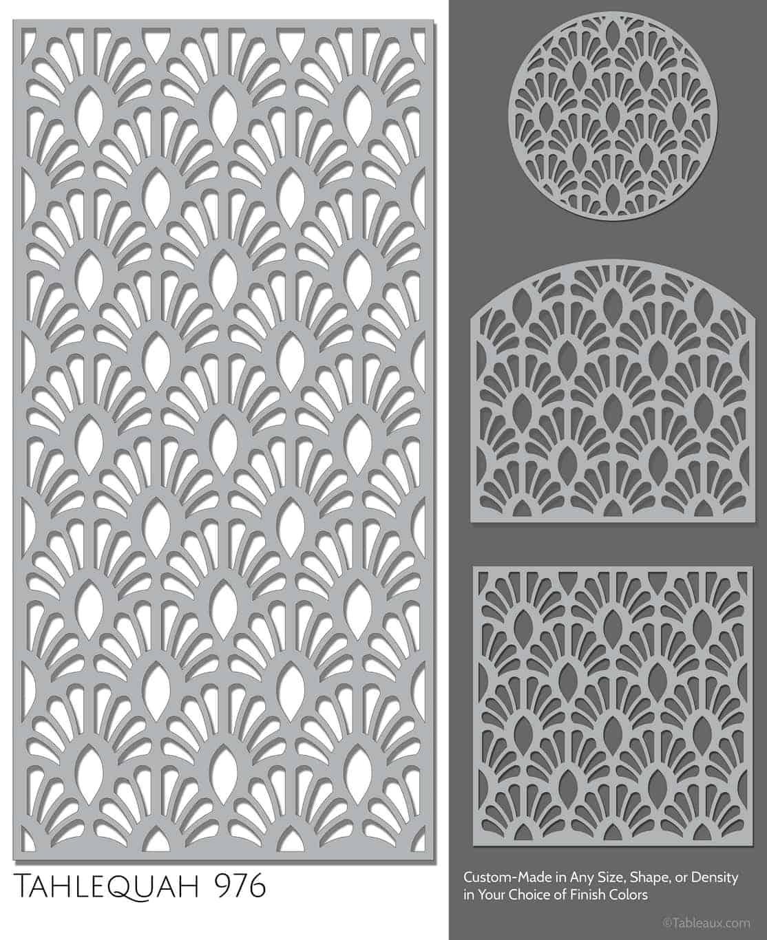 """Tableaux Decorative Grilles Design Pattern """"Tahlequah"""""""