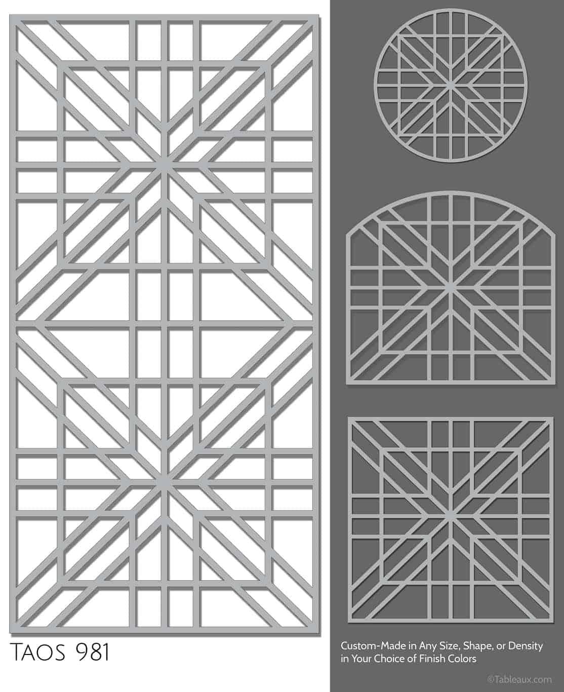 """Tableaux Decorative Grilles Design Pattern """"Taos"""""""