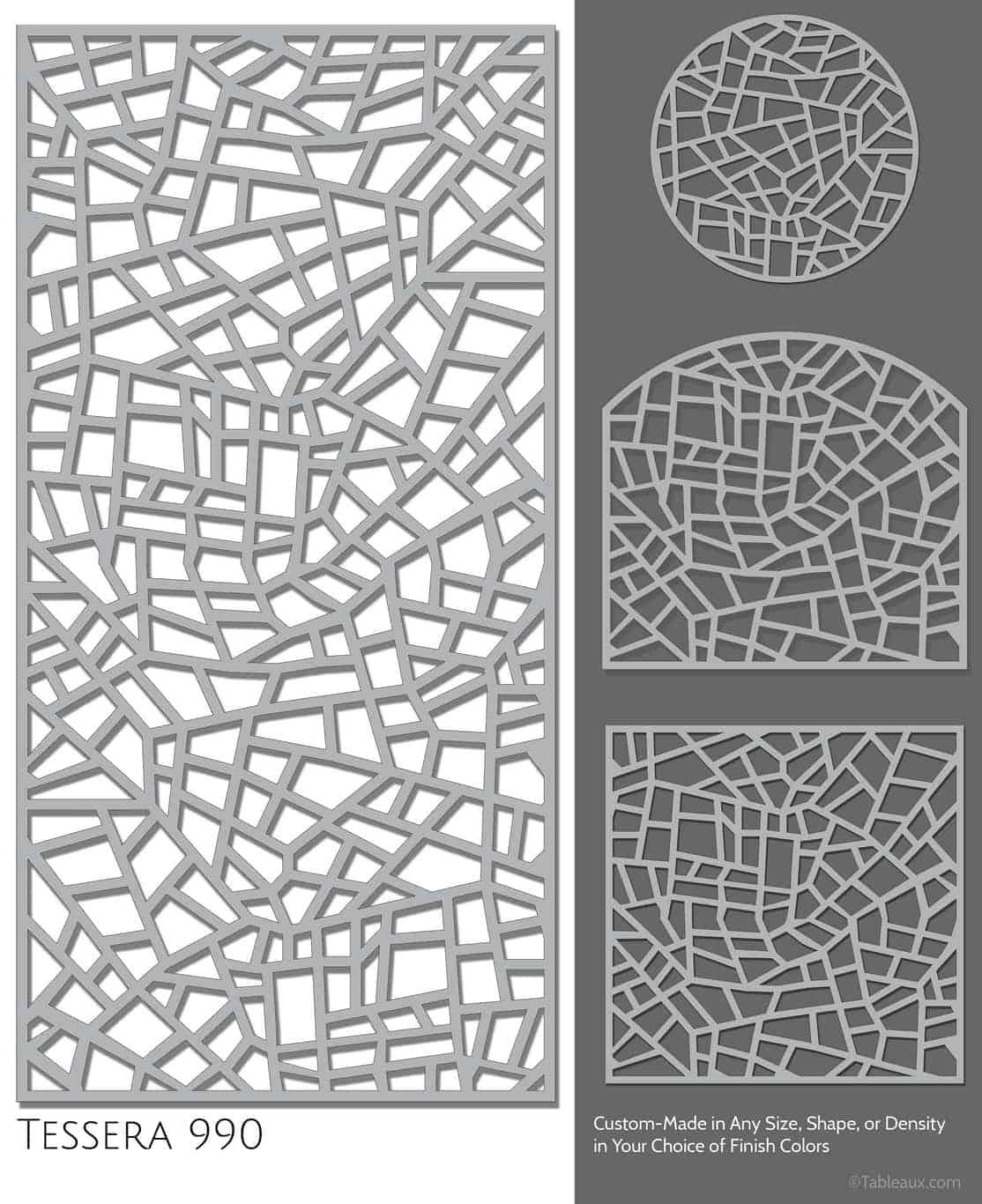 "Tableaux Decorative Grilles Design Pattern ""Tessera"""