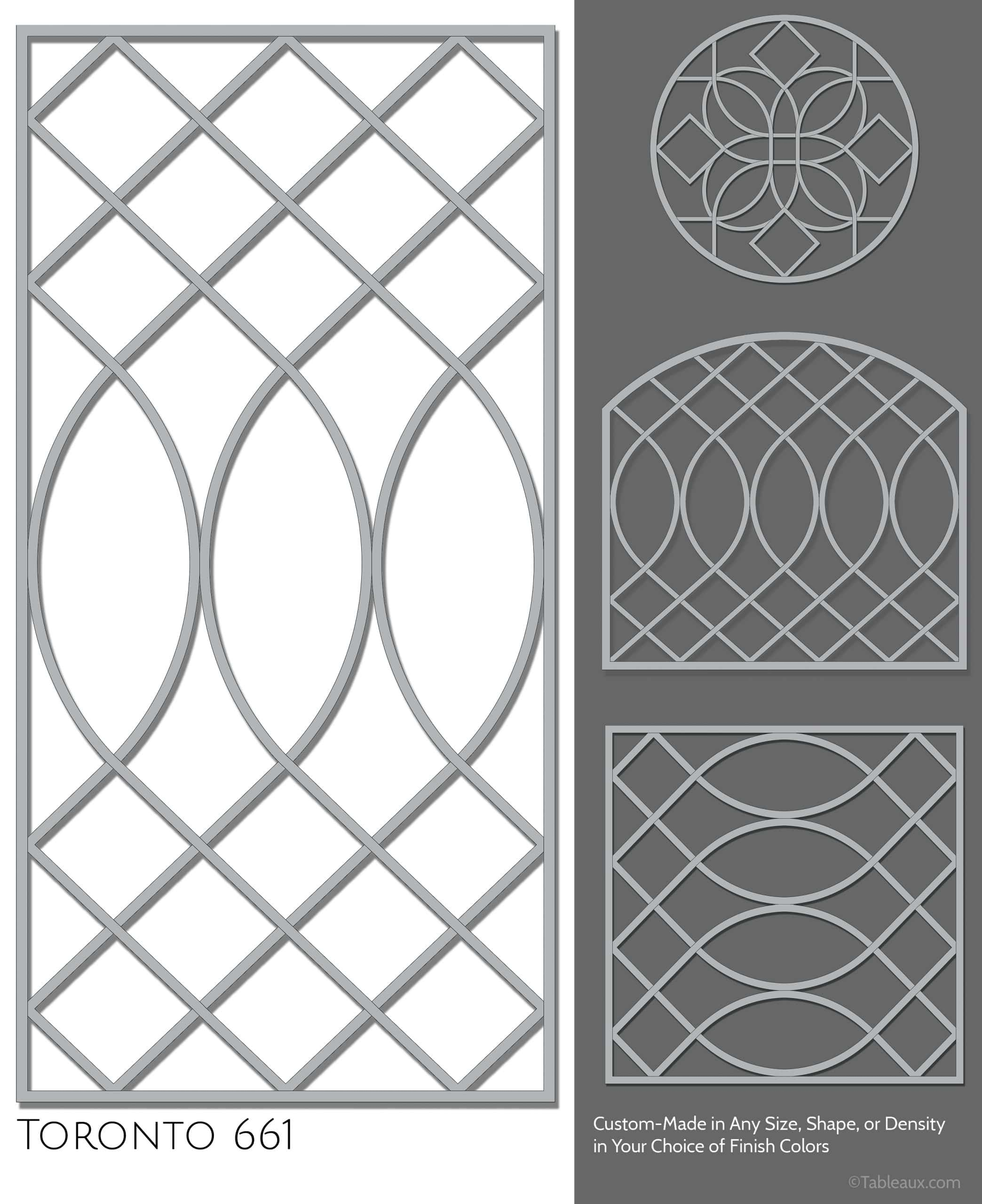 """Tableaux Decorative Grilles Design Pattern """"Toronto"""""""